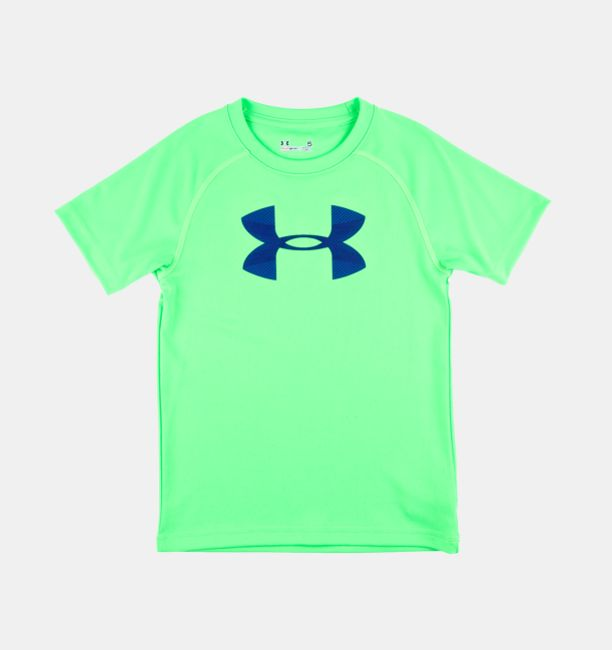 boys infant ua big logo neon t shirt under armour us