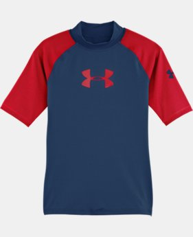 Boys' UA LoTide Short Sleeve Rash Guard