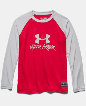 Boys' UA Slasher Long Sleeve Rash Guard