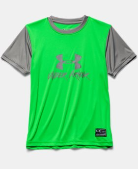 Boys' UA Slasher Short Sleeve Rash Guard