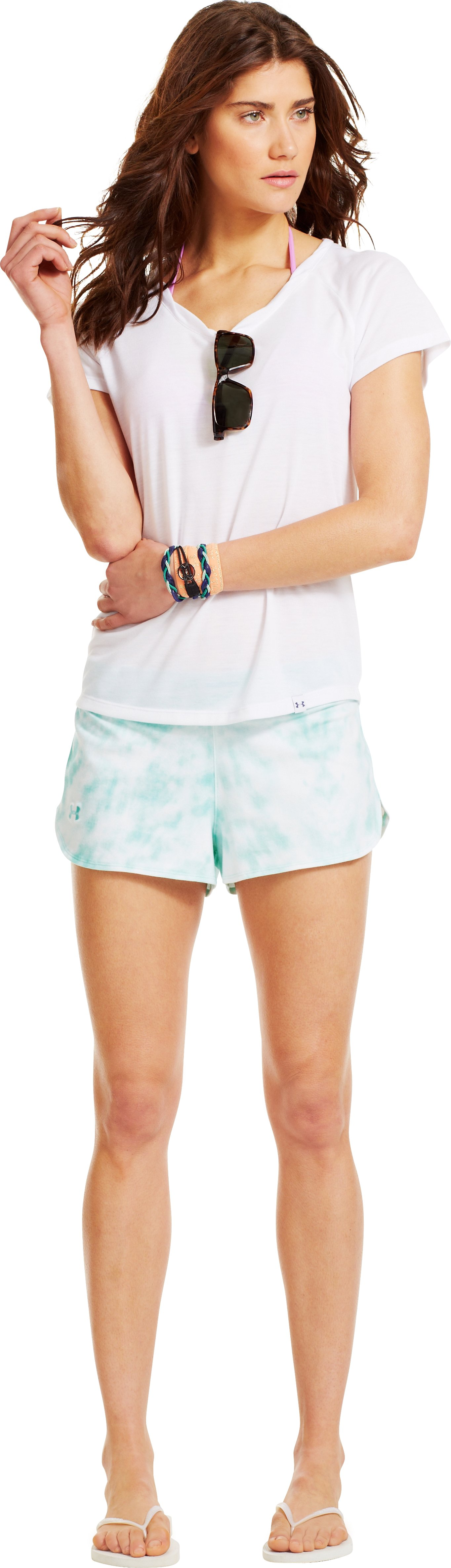 Women's UA Ashton Shorts, TROPICAL TIDE, Front