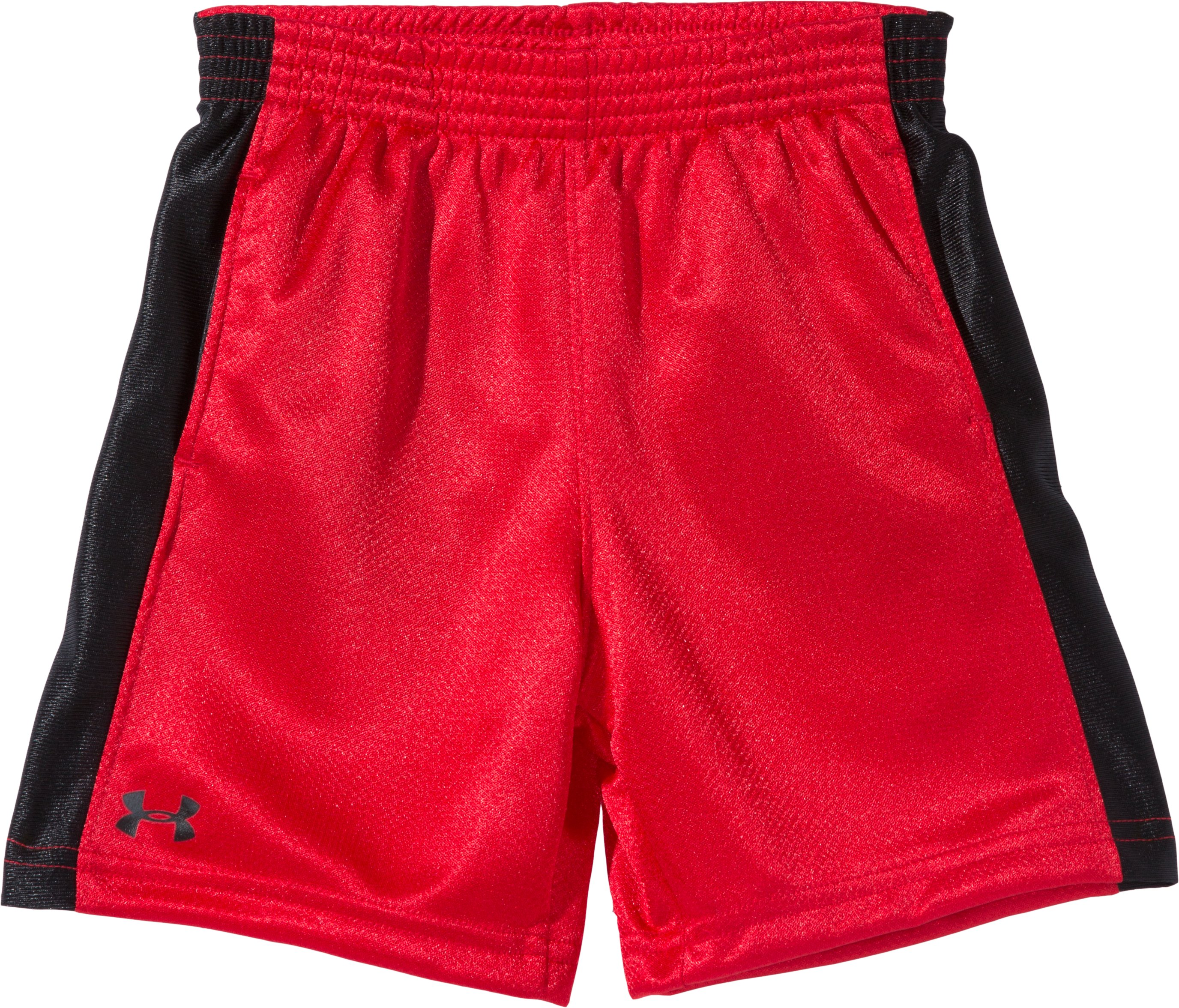Boys' Infant UA Ultimate Shorts, Red, Laydown