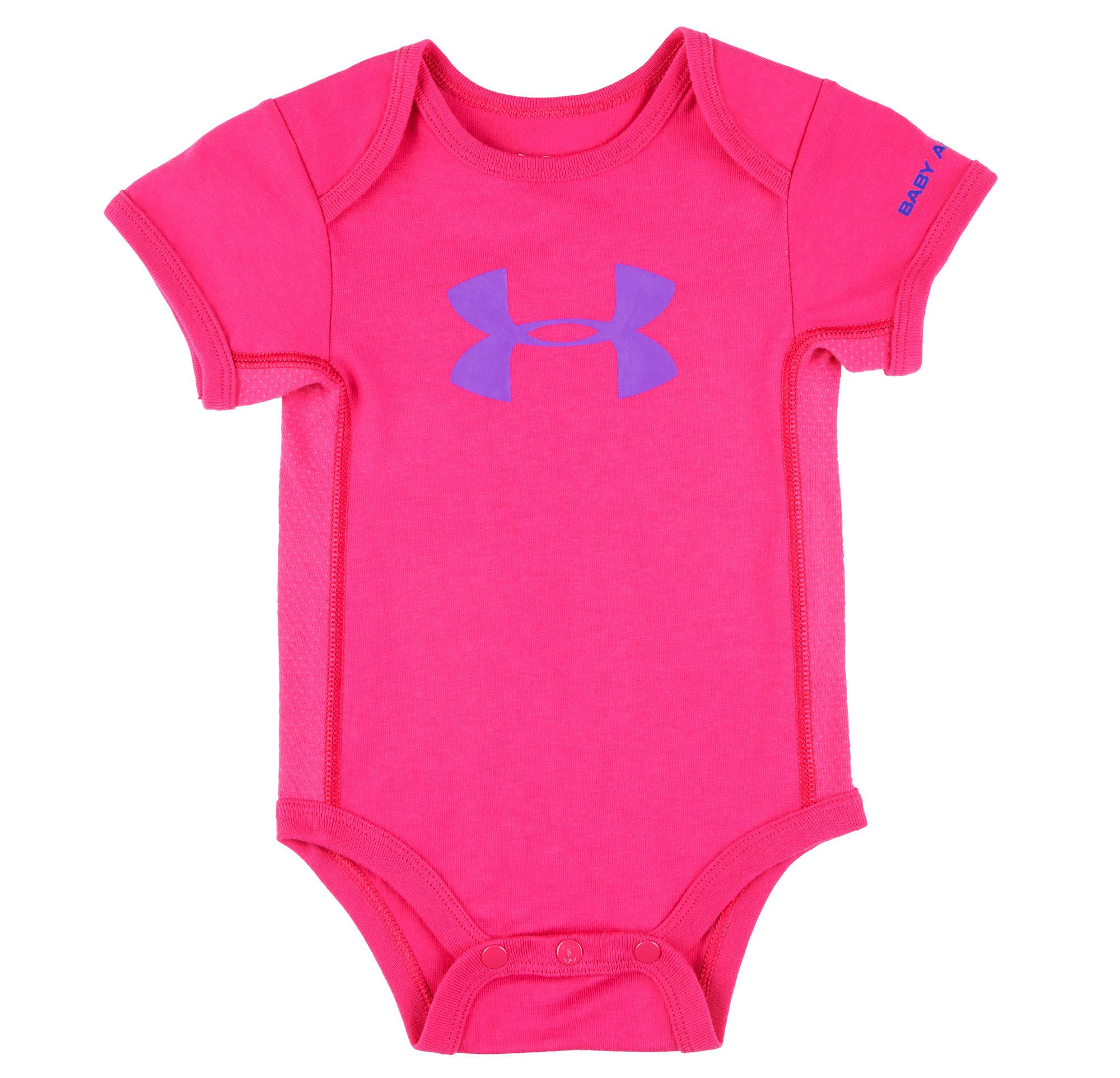 Girls' Newborn UA Big Logo Bodysuit, Tropic Pink, Laydown