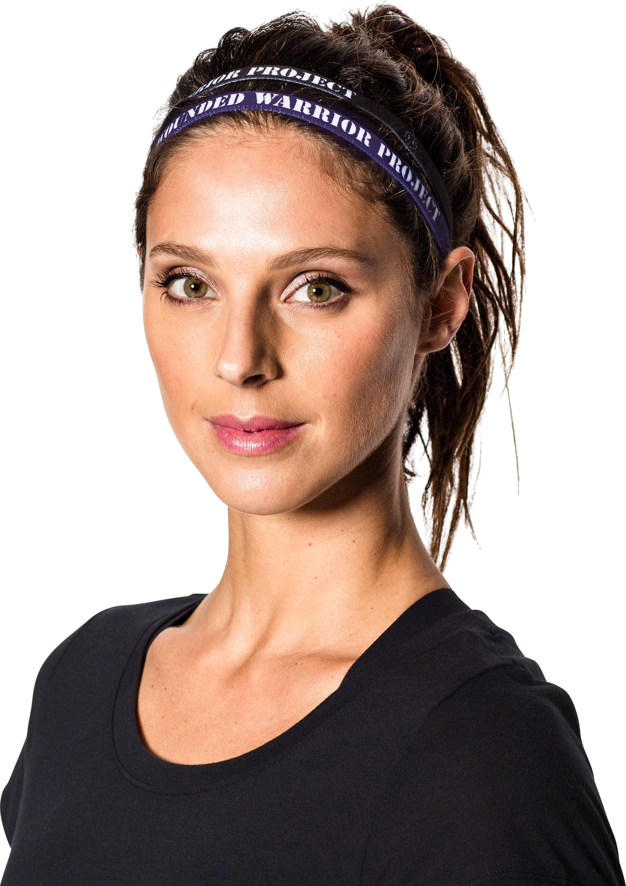 Women's UA Outdoor Mini Headbands, Black ,