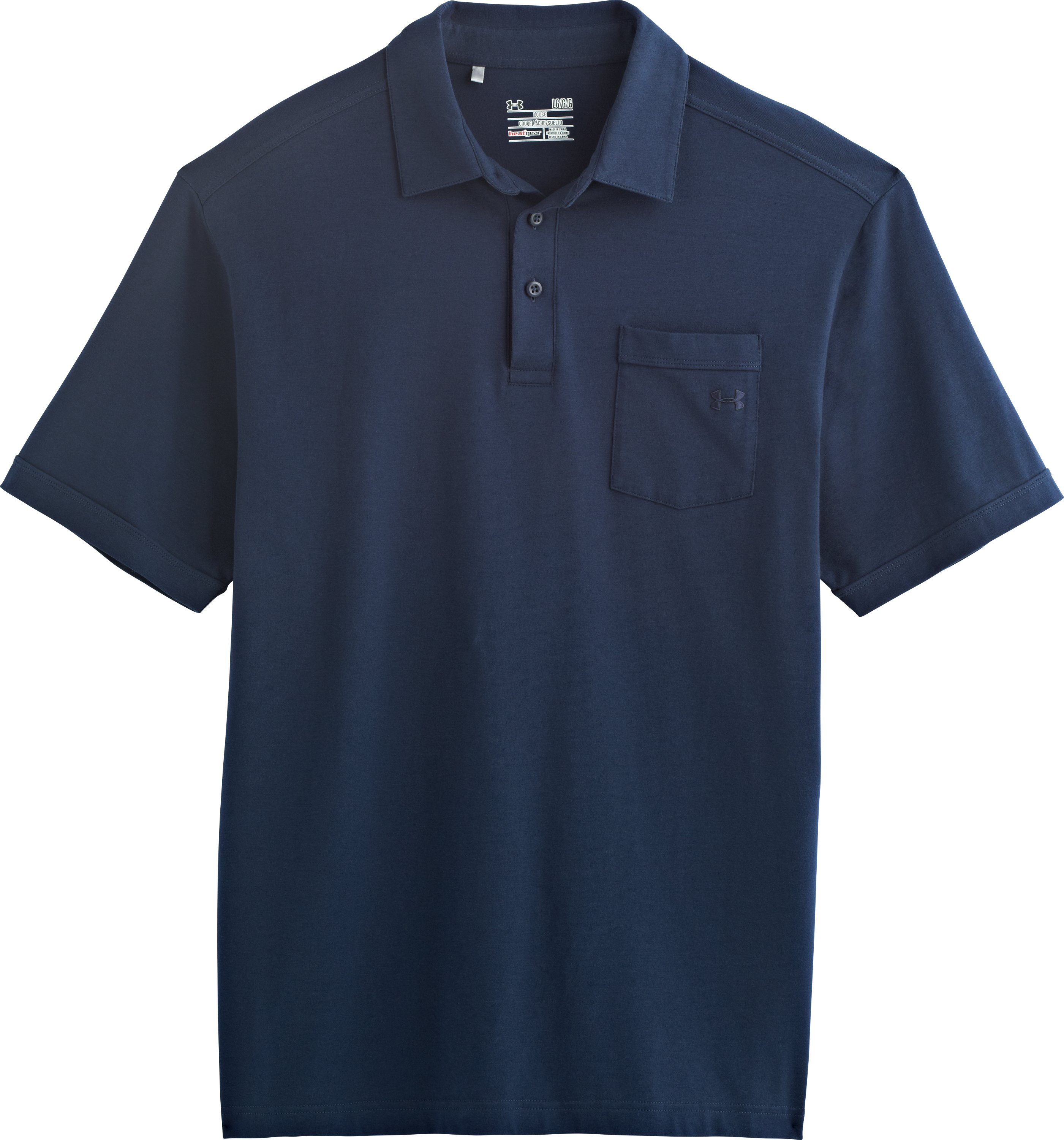 Men's Charged Cotton® Pocket Polo, Academy, Laydown