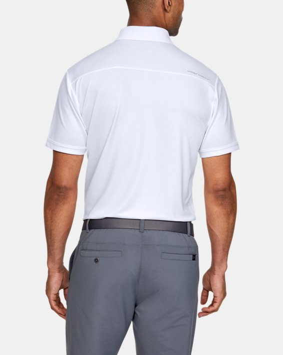 Polo UA Performance pour homme, White, pdpMainDesktop image number 4