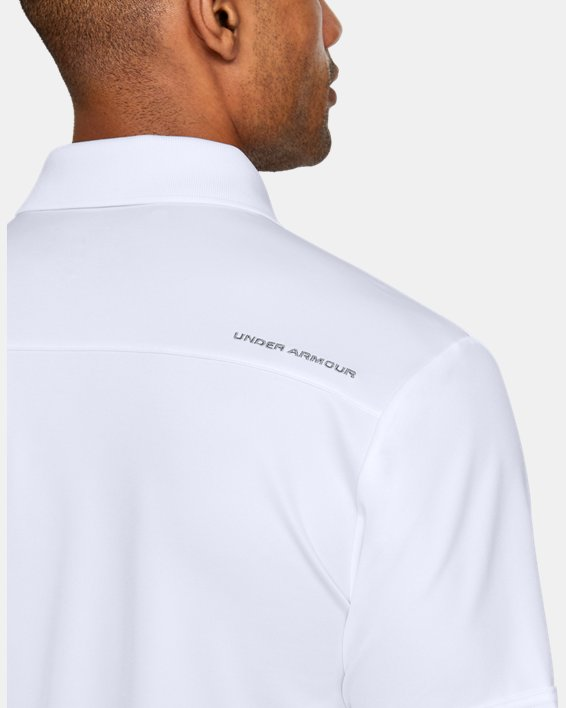 Polo UA Performance pour homme, White, pdpMainDesktop image number 10