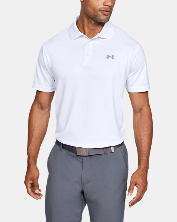Polo UA Performance pour homme, White, pdpMainDesktop image number 0