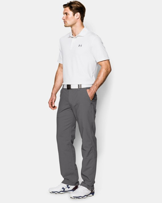 Polo UA Performance pour homme, White, pdpMainDesktop image number 2
