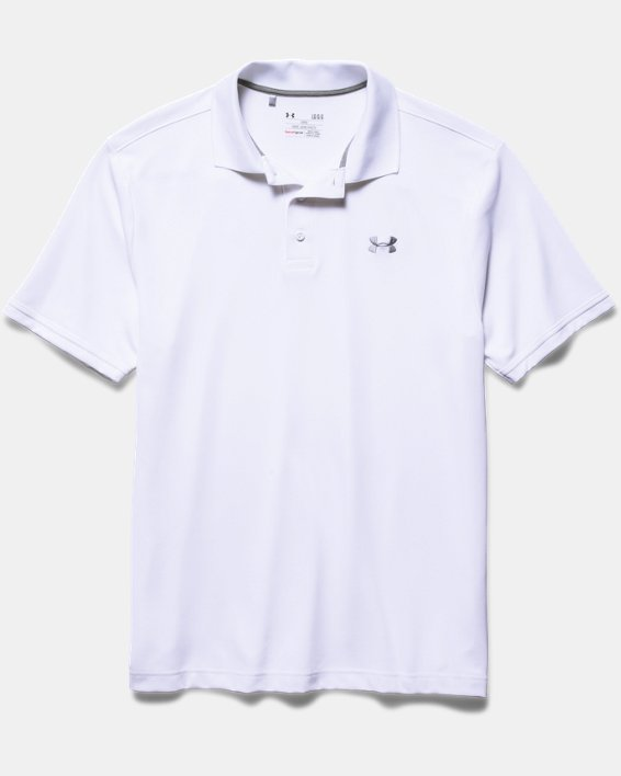 Polo UA Performance pour homme, White, pdpMainDesktop image number 7