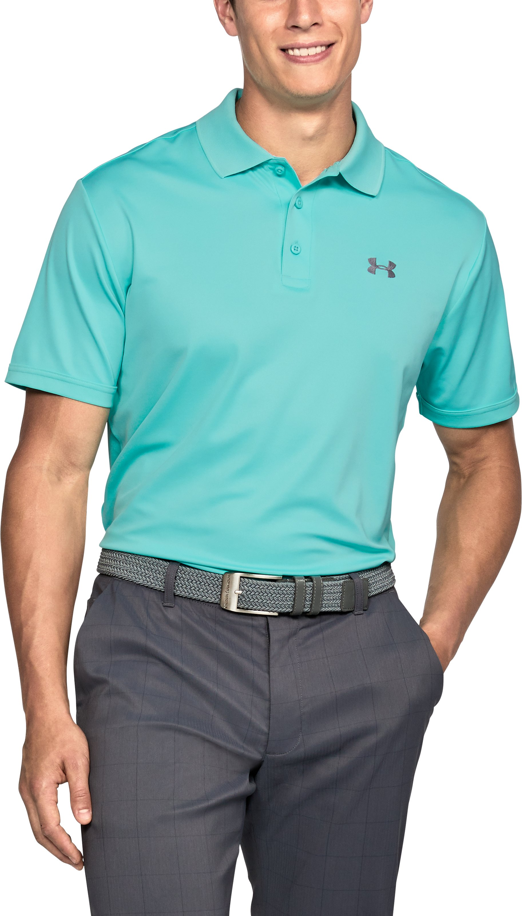 Men's UA Performance Polo, TROPICAL TIDE