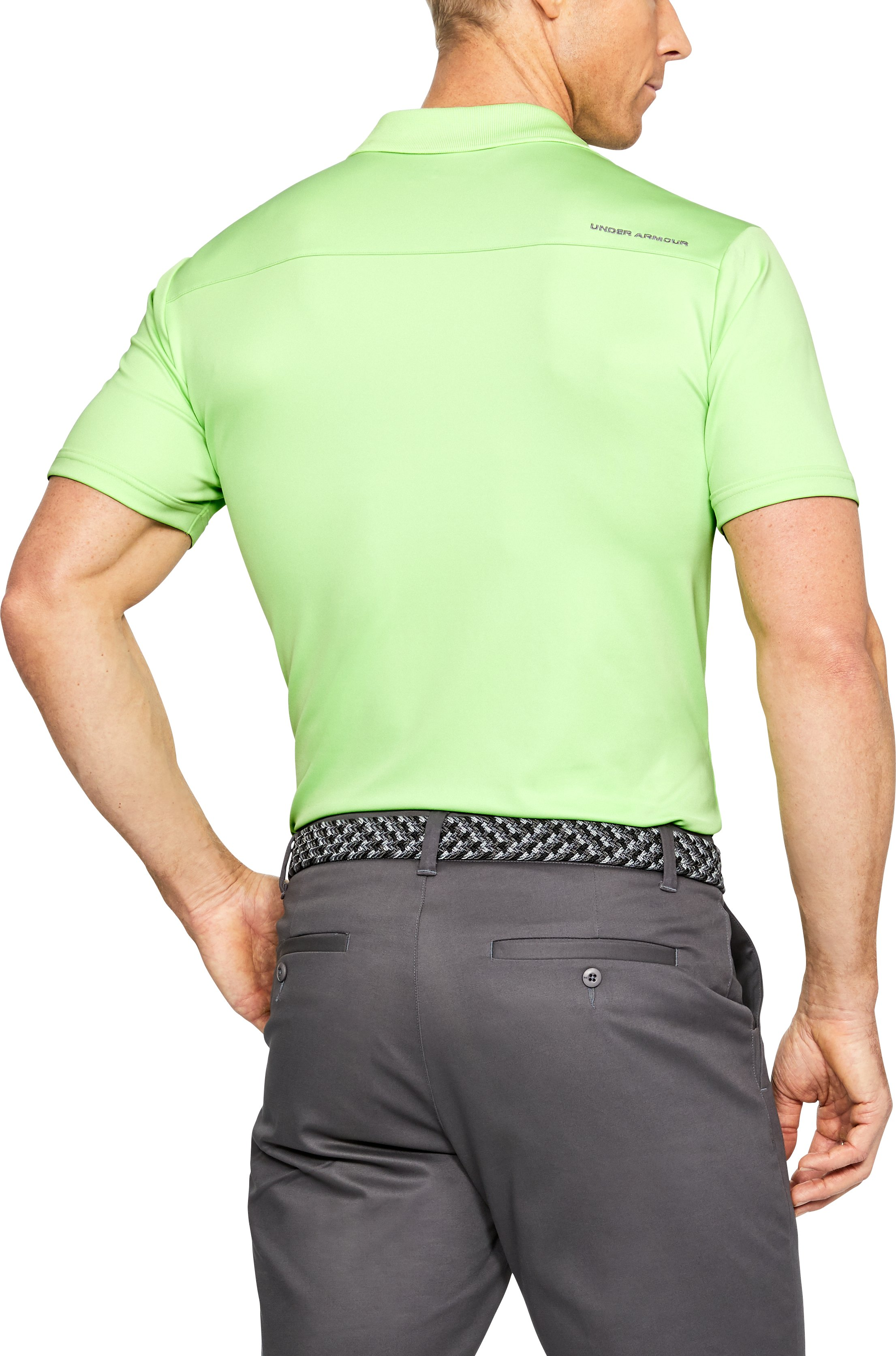 Men's UA Performance Polo, LUMOS LIME,