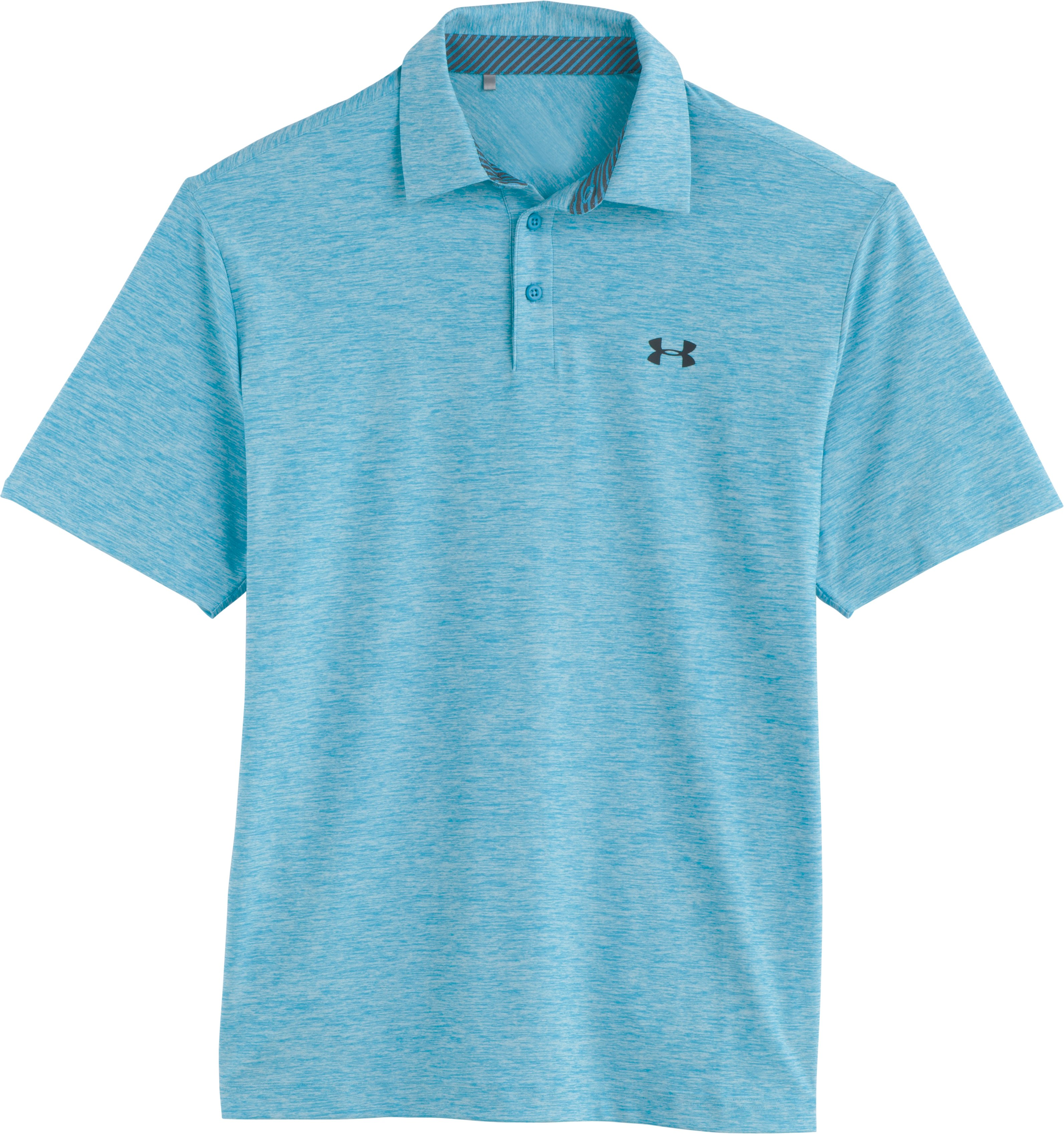 Men's UA Elevated Heather Polo, ALPINE, Laydown