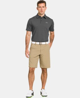 Men's UA Elevated Heather Stripe Polo