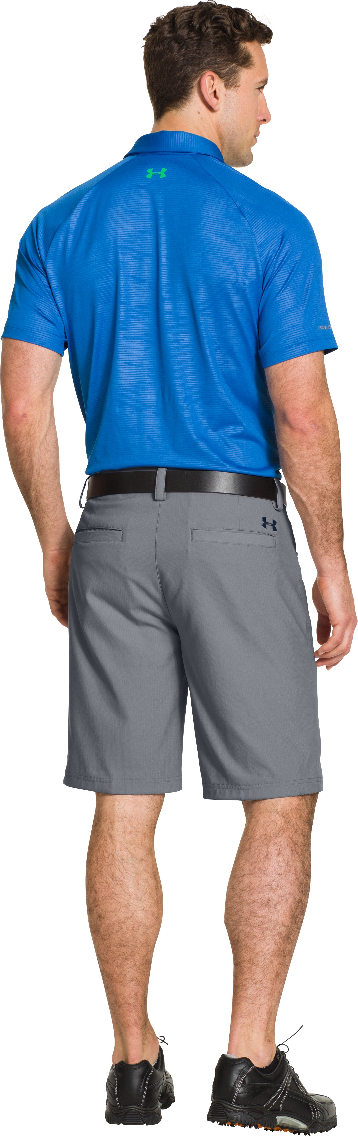 Men's UA Elevated Twill Golf Shorts, Steel, Back