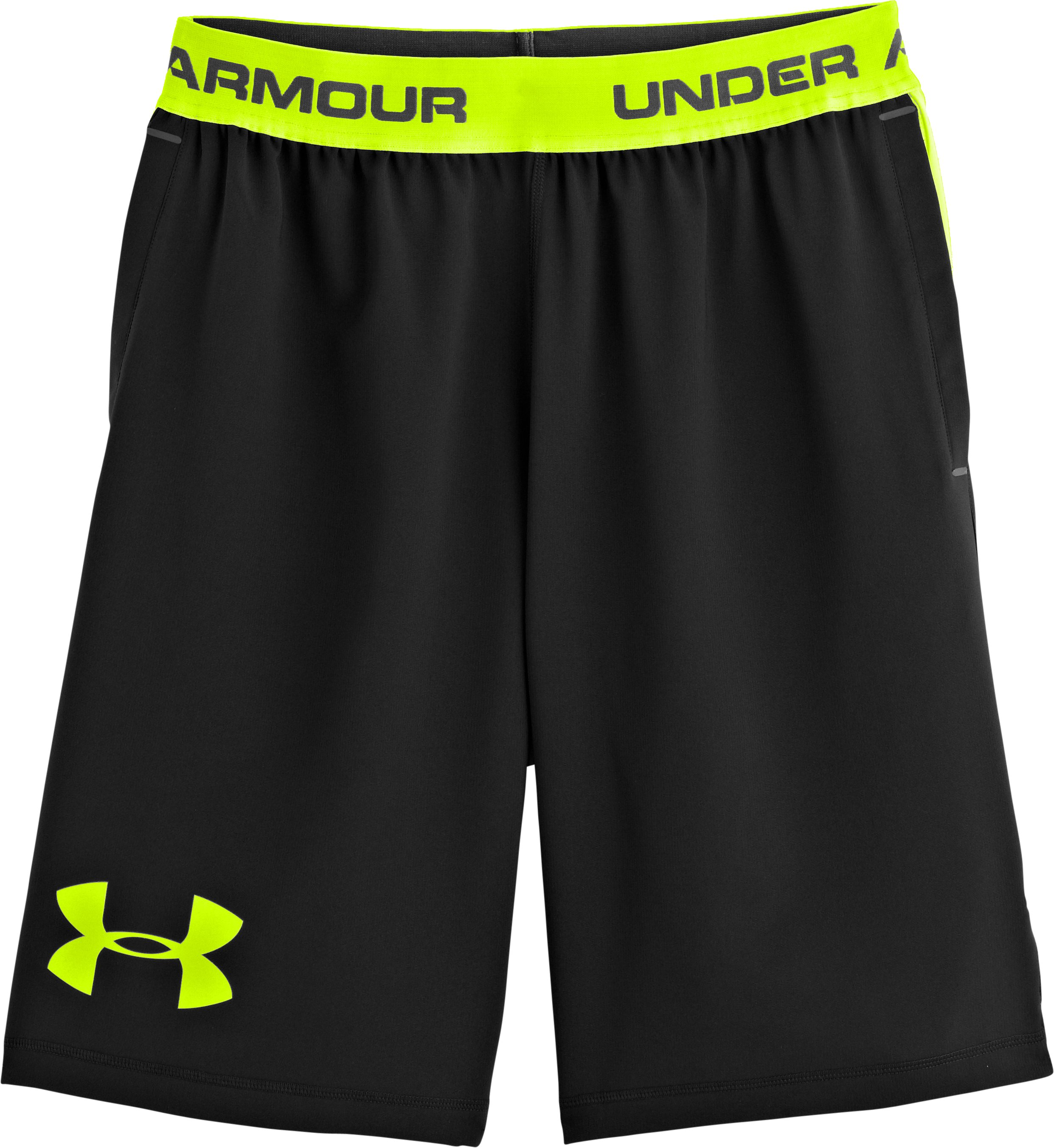 Men's UA Combine® Training Woven Shorts, Black , Laydown