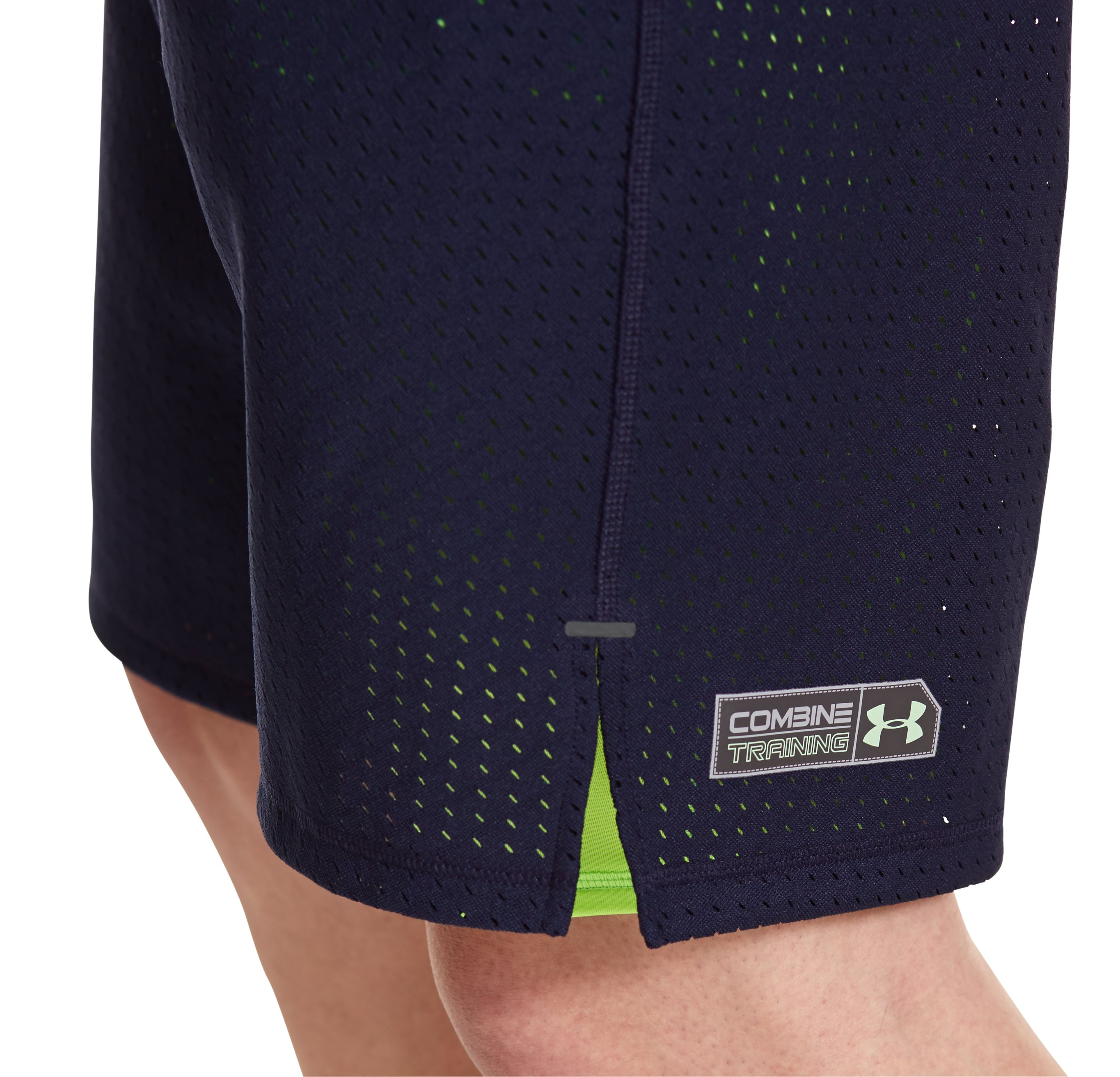 Men's UA Combine® Training B.I.C. 2-in-1 Shorts, Midnight Navy, undefined