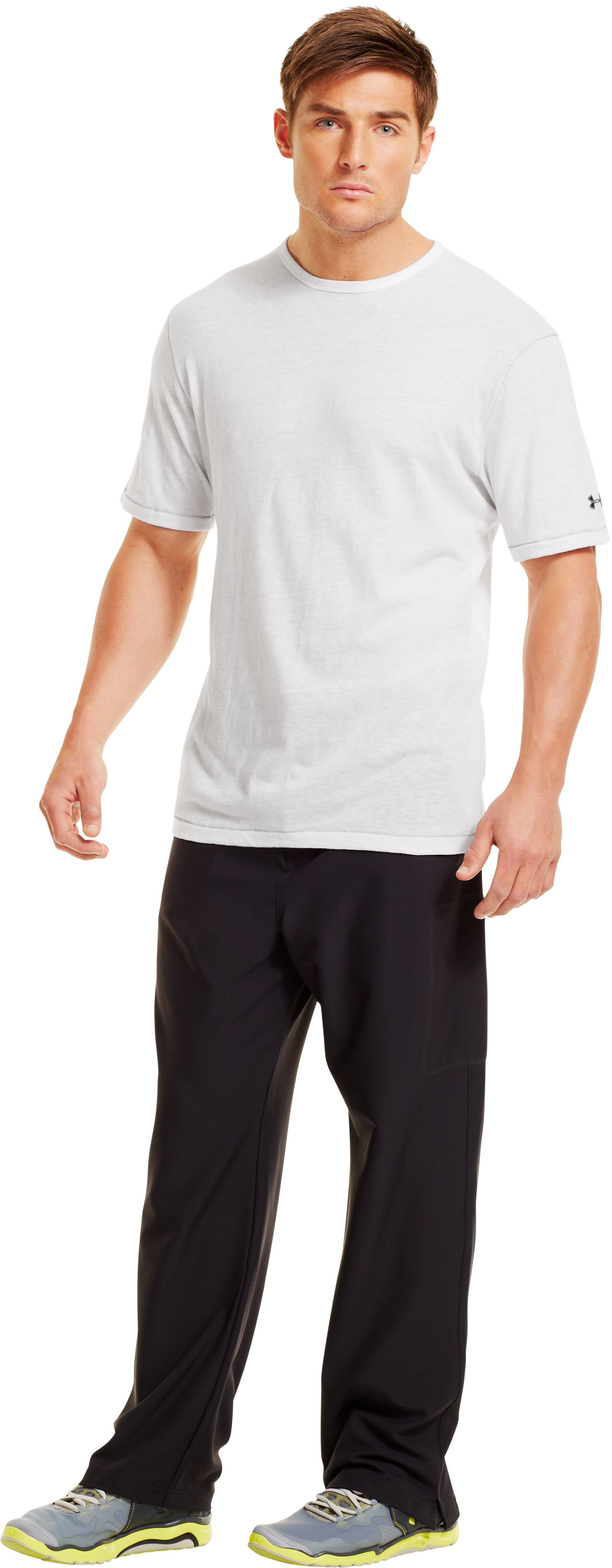 Men's Charged Cotton® Tri-Blend T-Shirt, White, Front