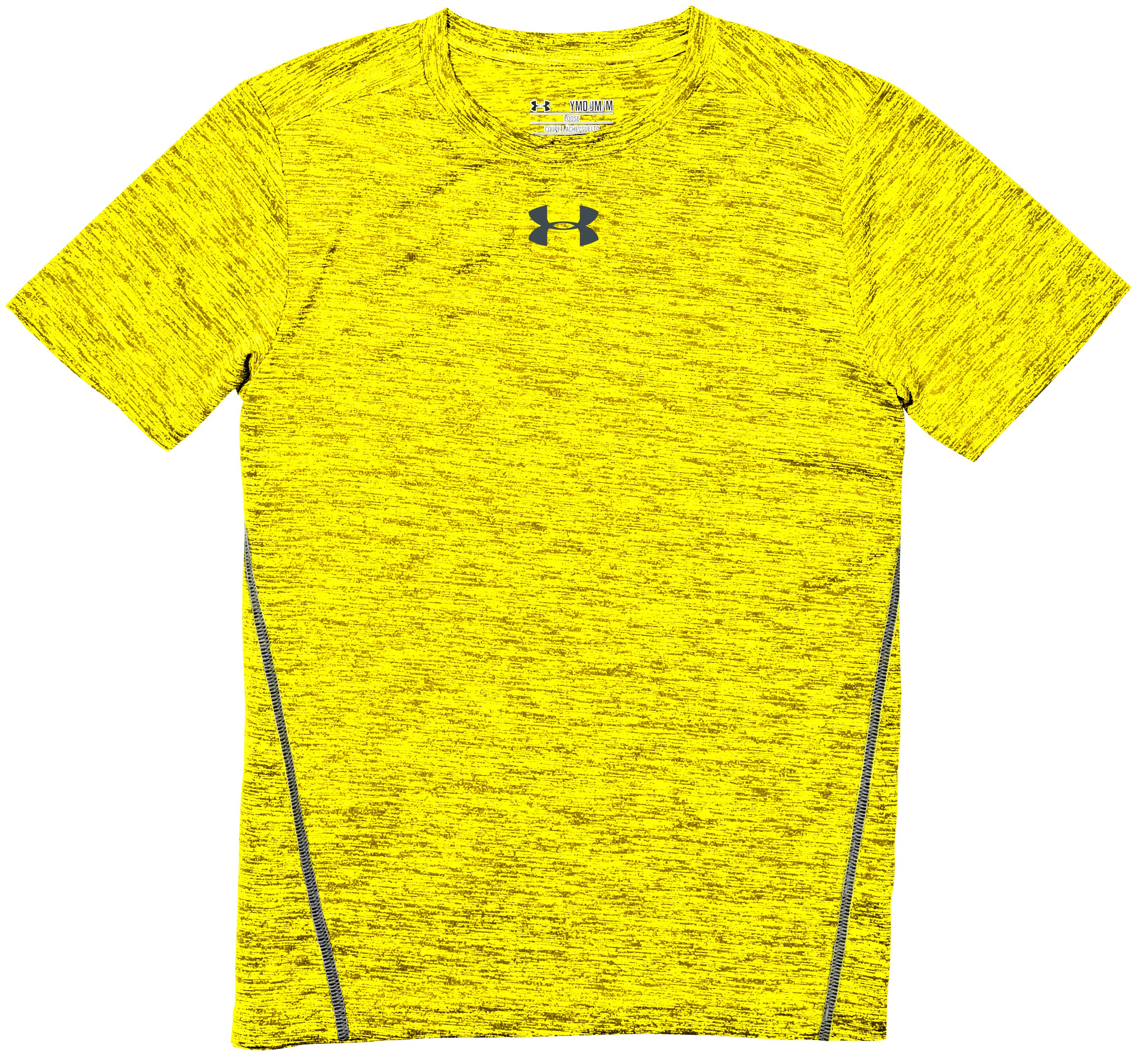 Boys' UA Tech™ Twist Short Sleeve T-Shirt, High-Vis Yellow, Laydown