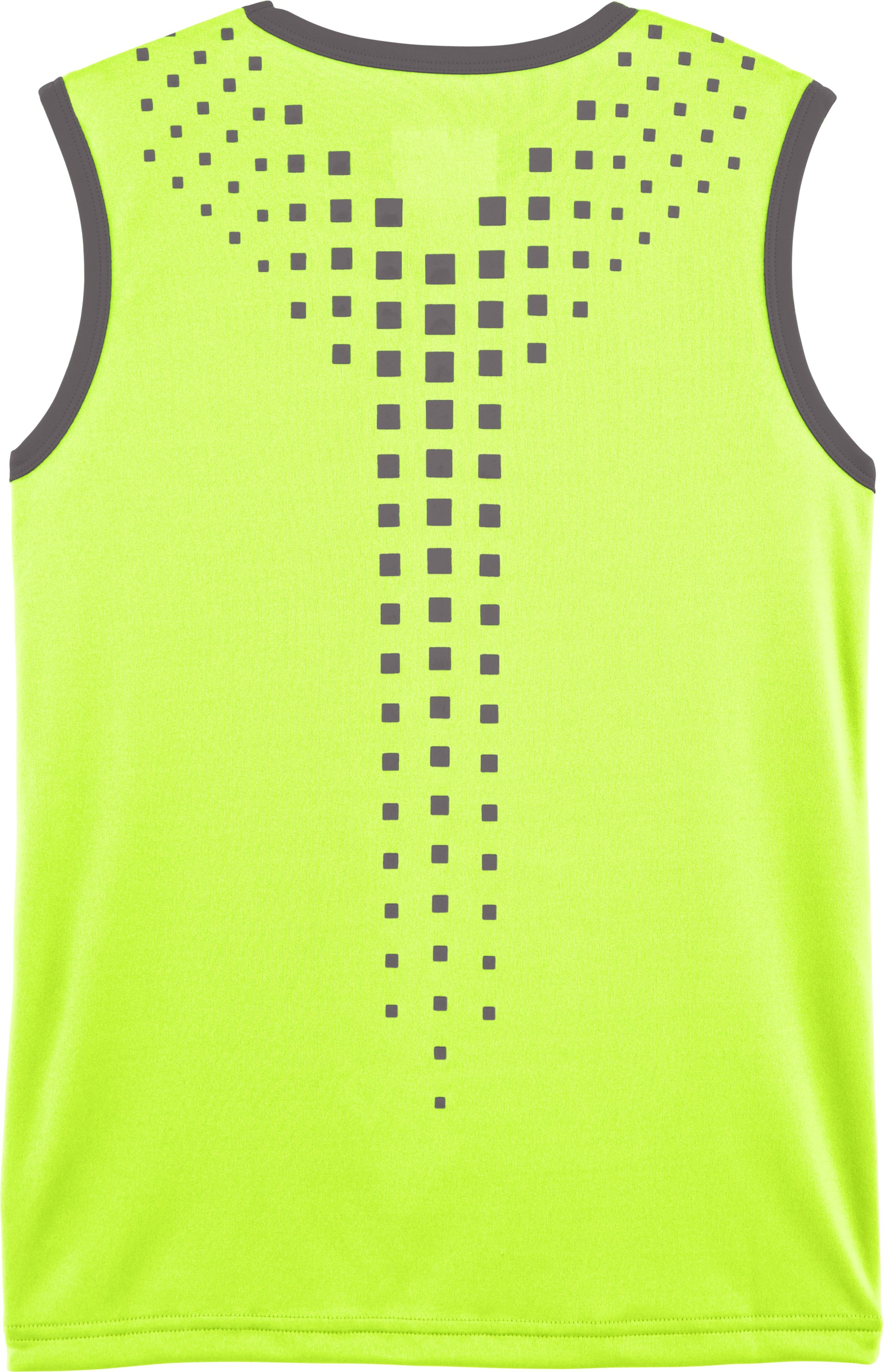 Boys' UA Done Done Done Sleeveless T-Shirt, High-Vis Yellow