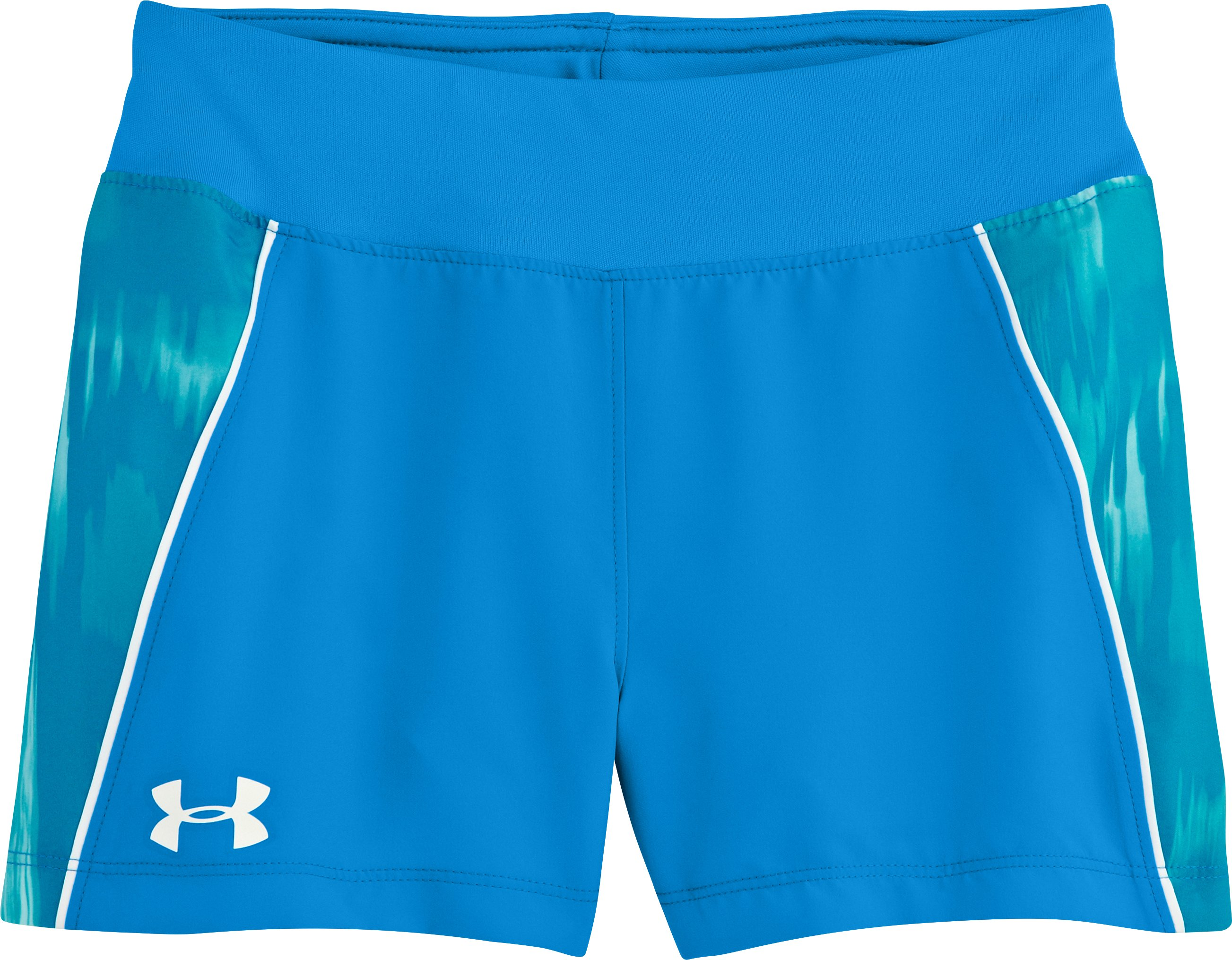 "Girls' UA Move It 3"" Shorts, ELECTRIC BLUE, Laydown"