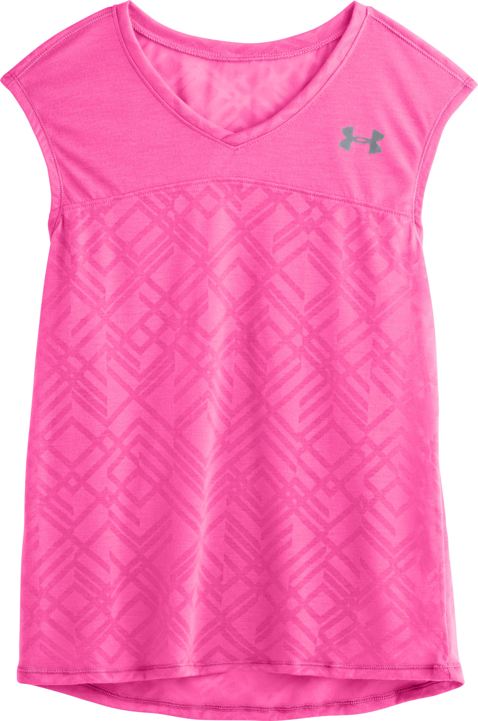 Girls' UA Studio Sleeveless Tank, CHAOS, Laydown