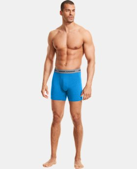 "3-Pack Men's Charged Cotton® Stretch 6"" Boxerjock® 3-Pack  2 Colors $40"
