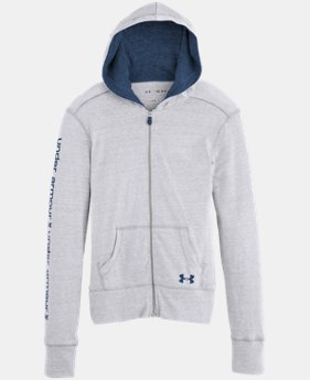 Girls' UA Tri-Blend Full Zip Hoodie