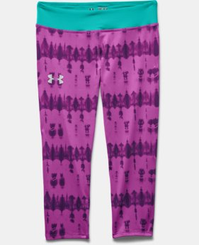 Girls' HeatGear® Armour Printed Capri