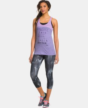 Women's Charged Cotton® Word mark Tri-Blend Tank LIMITED TIME: FREE U.S. SHIPPING 1 Color $14.99