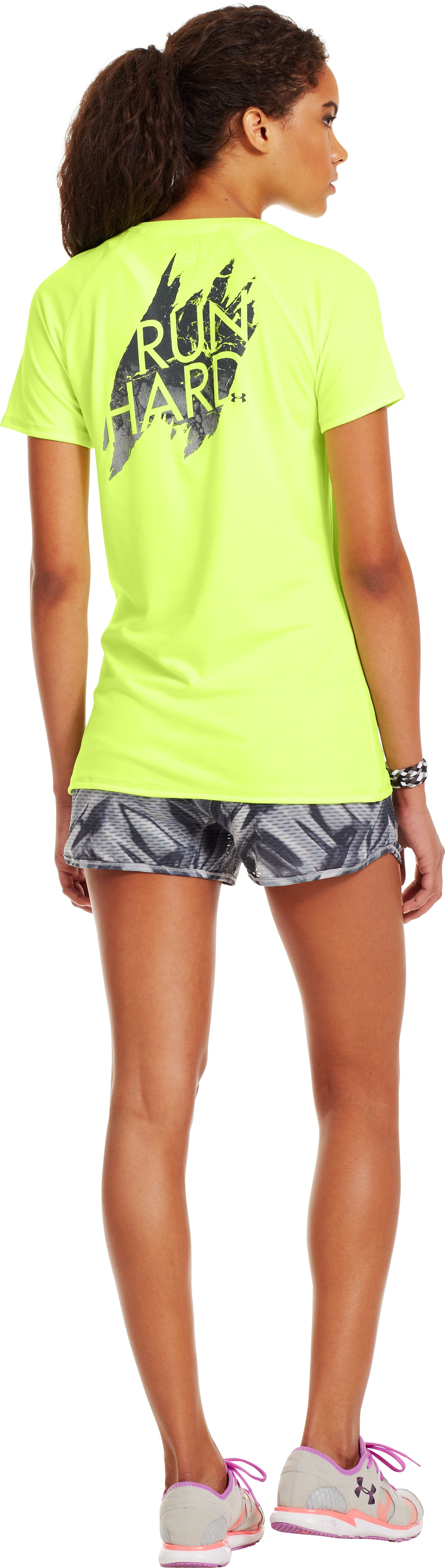 Women's UA Run Hard V-Neck, X-Ray, Back