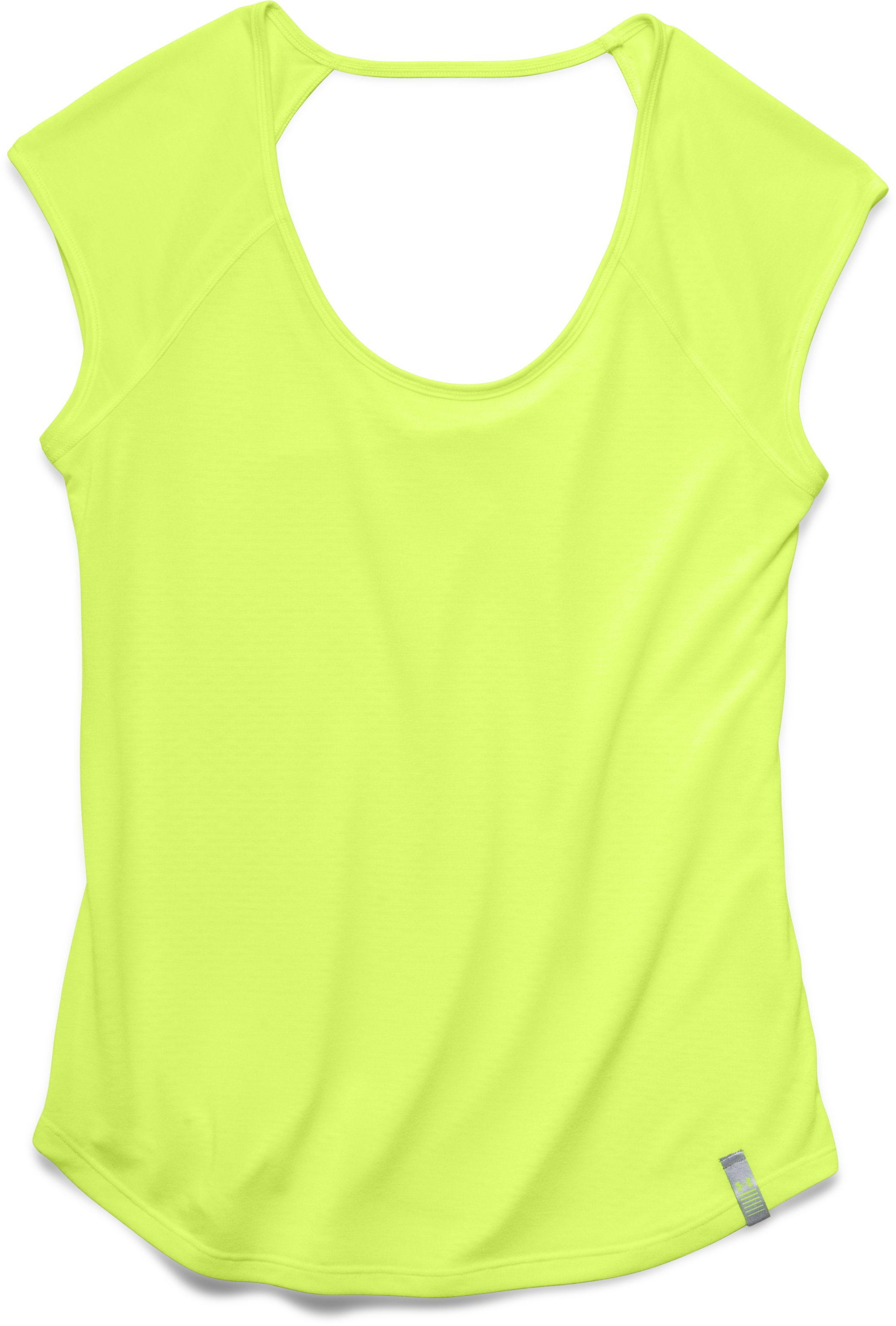 Women's UA Fly-By Short Sleeve, X-Ray, Laydown