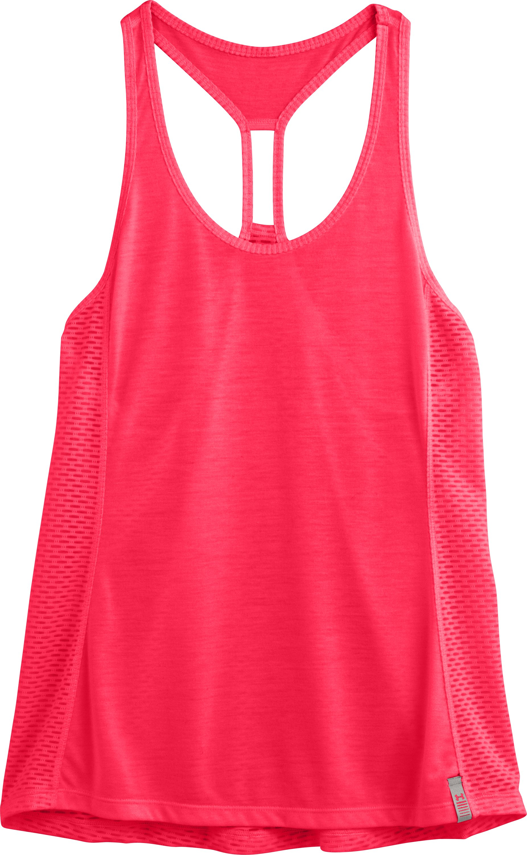 Women's UA Fly-By Stretch Mesh Tank, Neo Pulse, Laydown