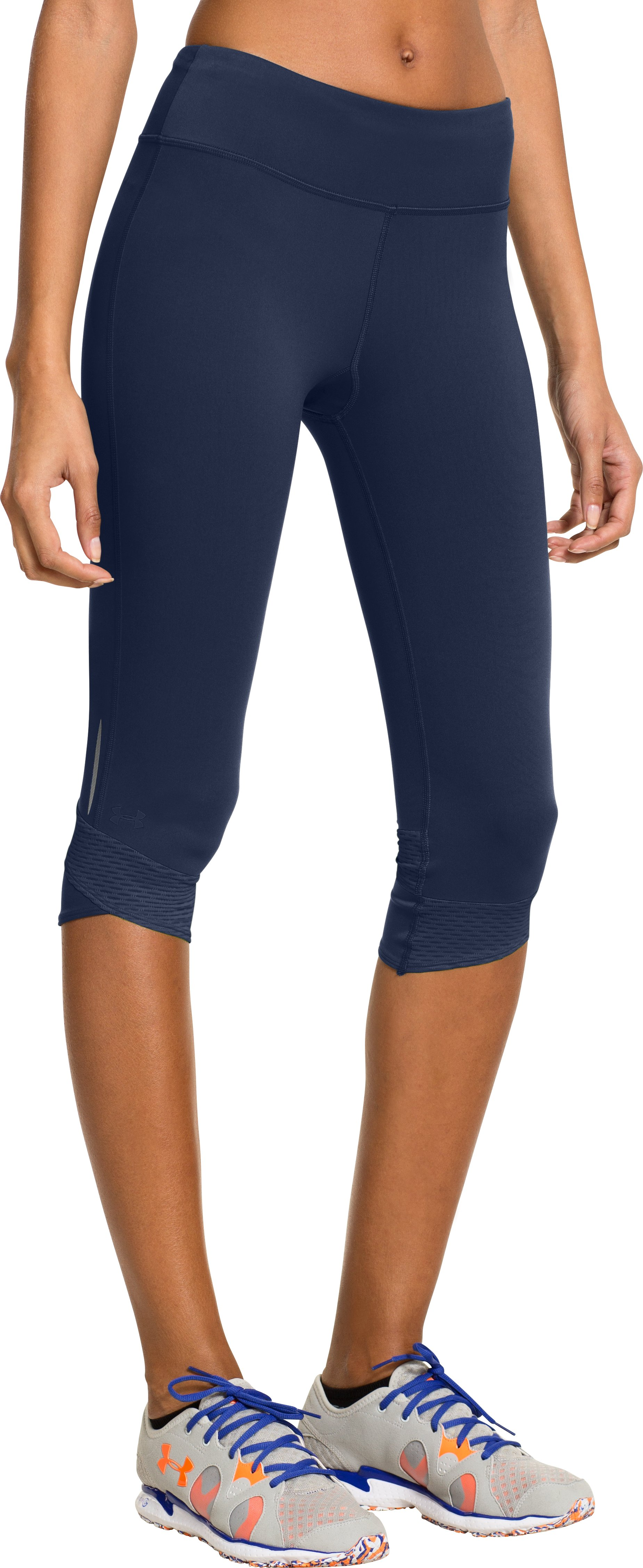 Women's UA Fly-By Compression Capri, RUSSIAN NIGHTS