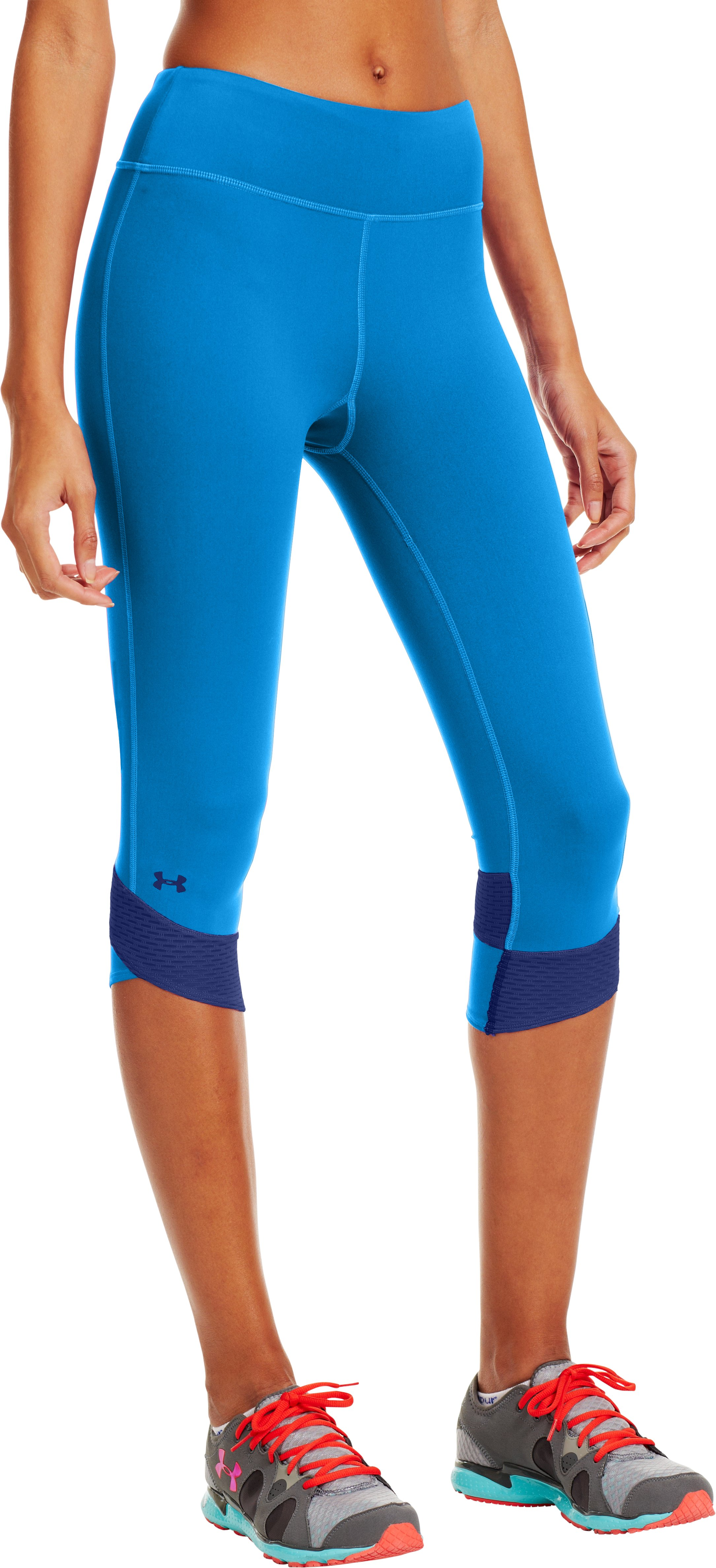 Women's UA Fly-By Compression Capri, ELECTRIC BLUE, zoomed image