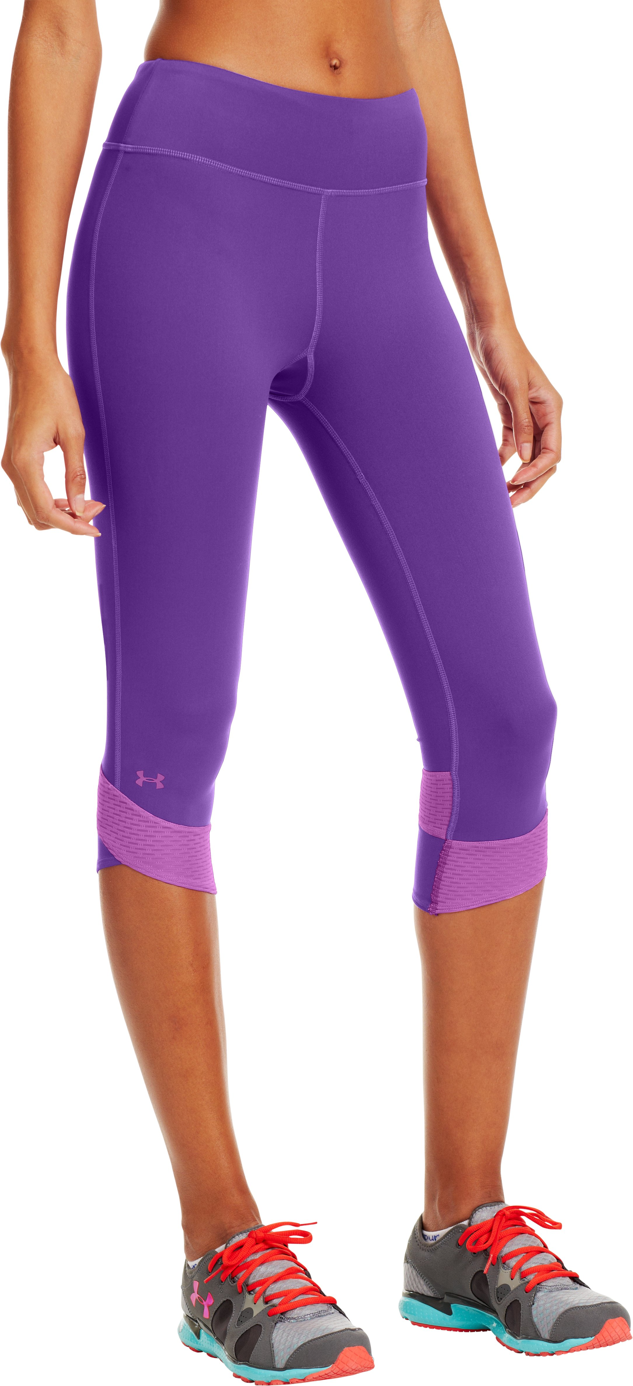 Women's UA Fly-By Compression Capri, PRIDE, zoomed image