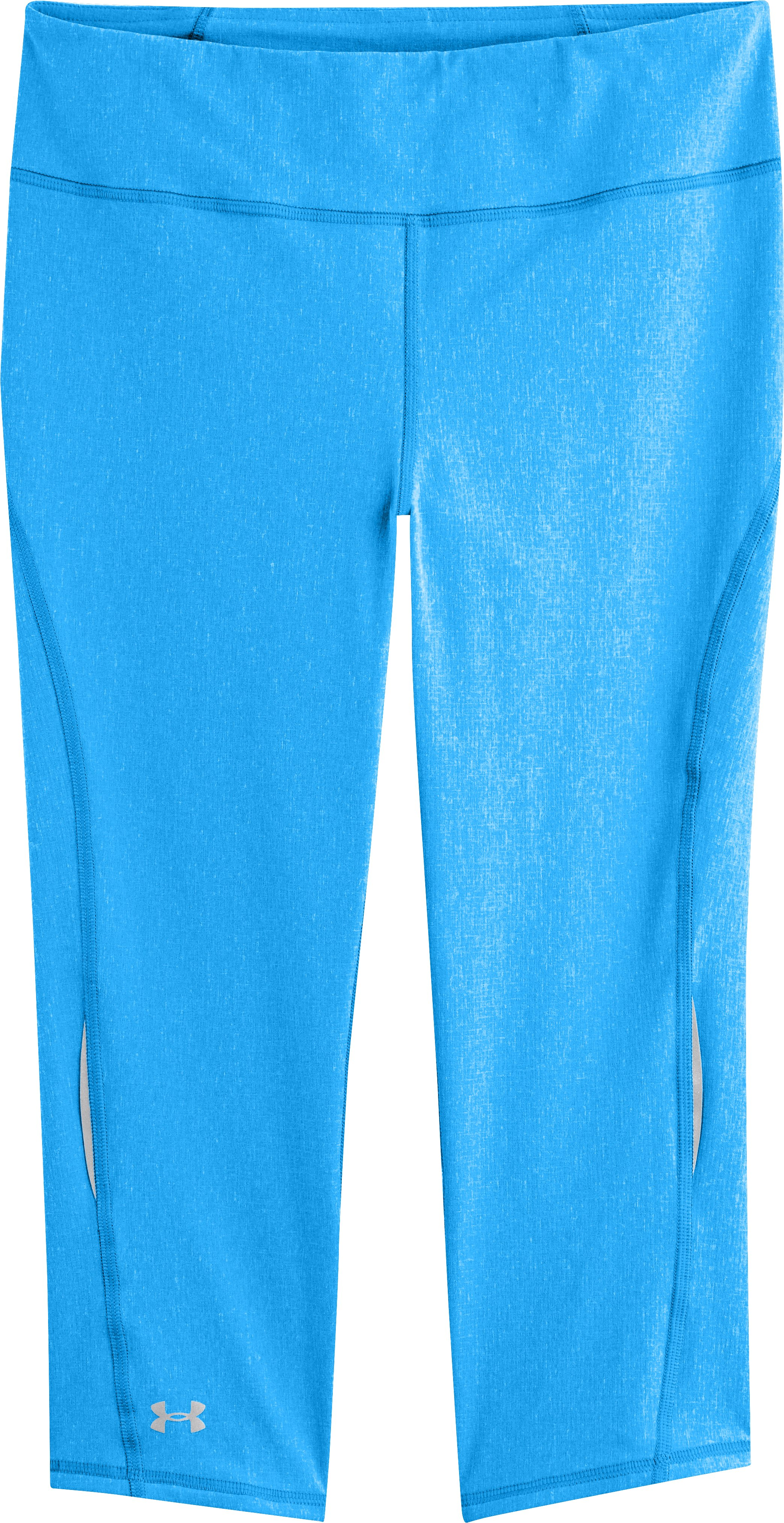 Women's UA Stunner Capri, ELECTRIC BLUE, Laydown