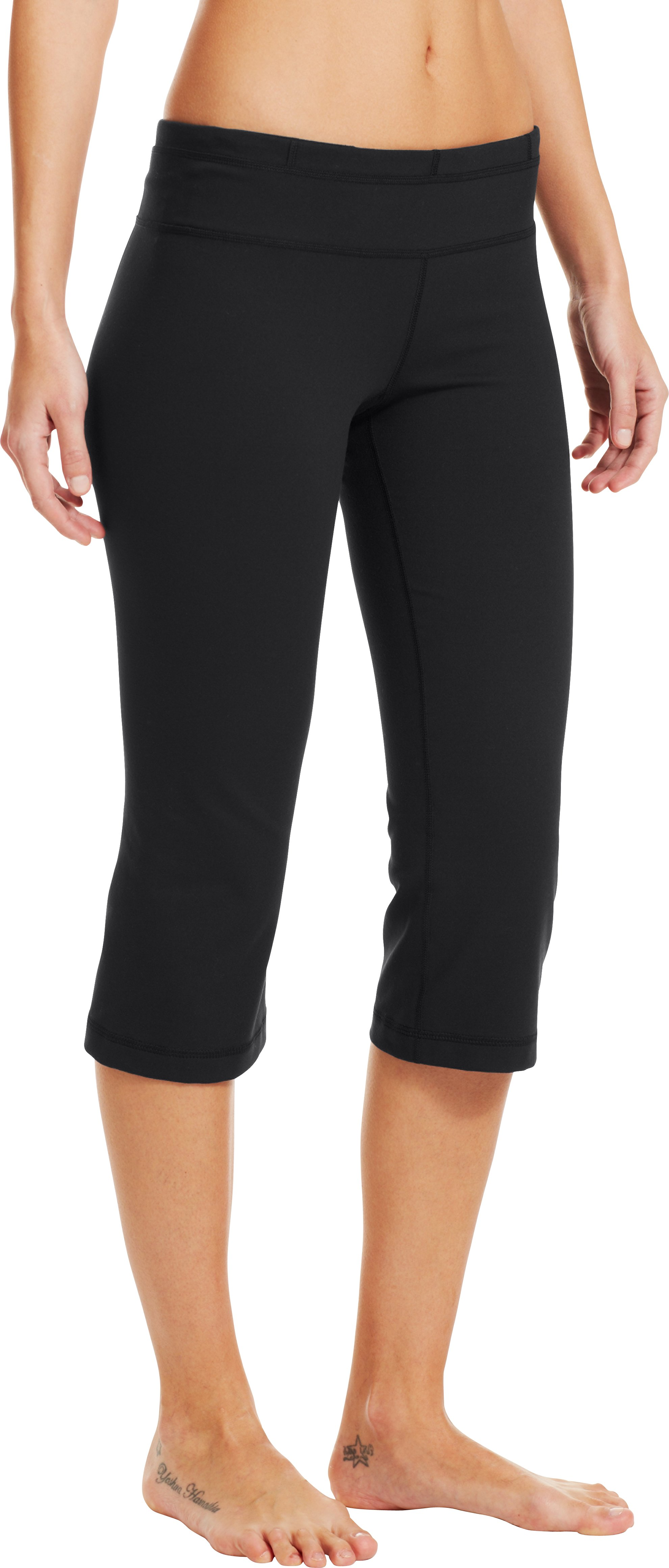 Women's UA StudioLux® Fitted Flare Capri, Black