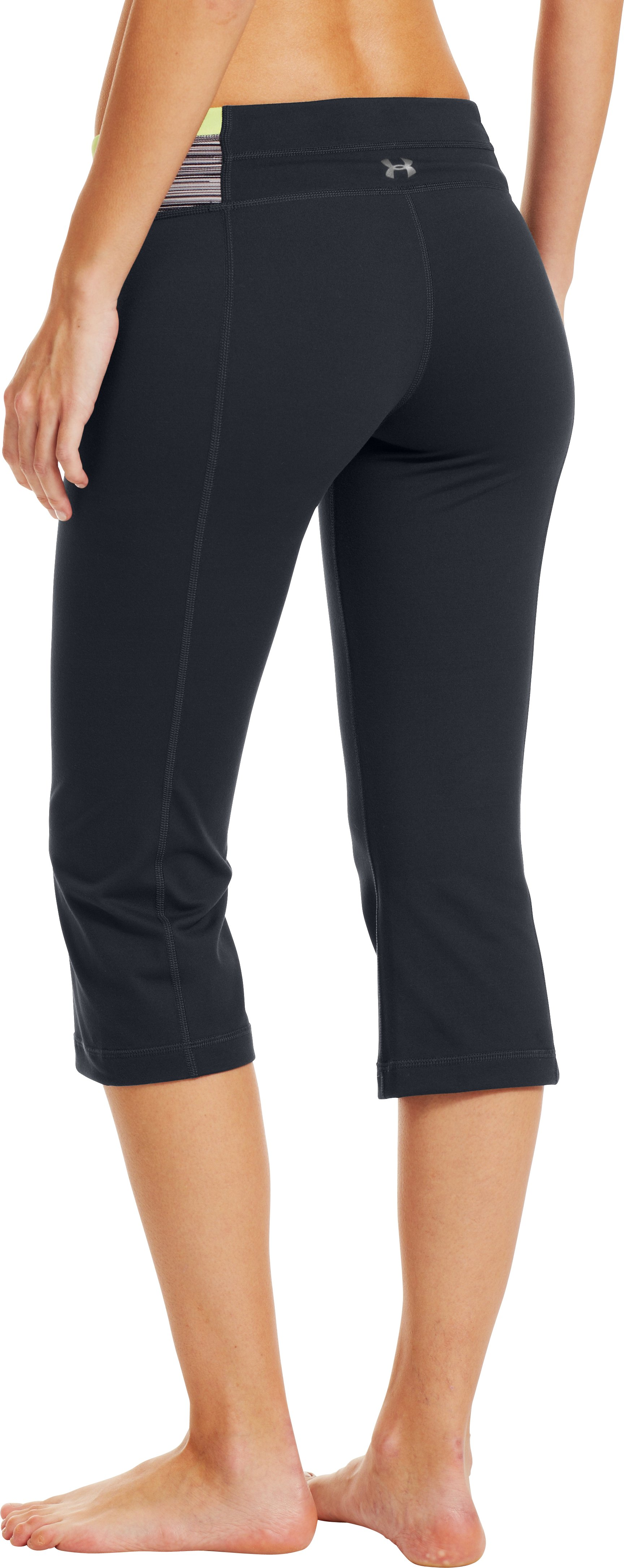 Women's UA StudioLux® Fitted Flare Capri, ANTHRACITE