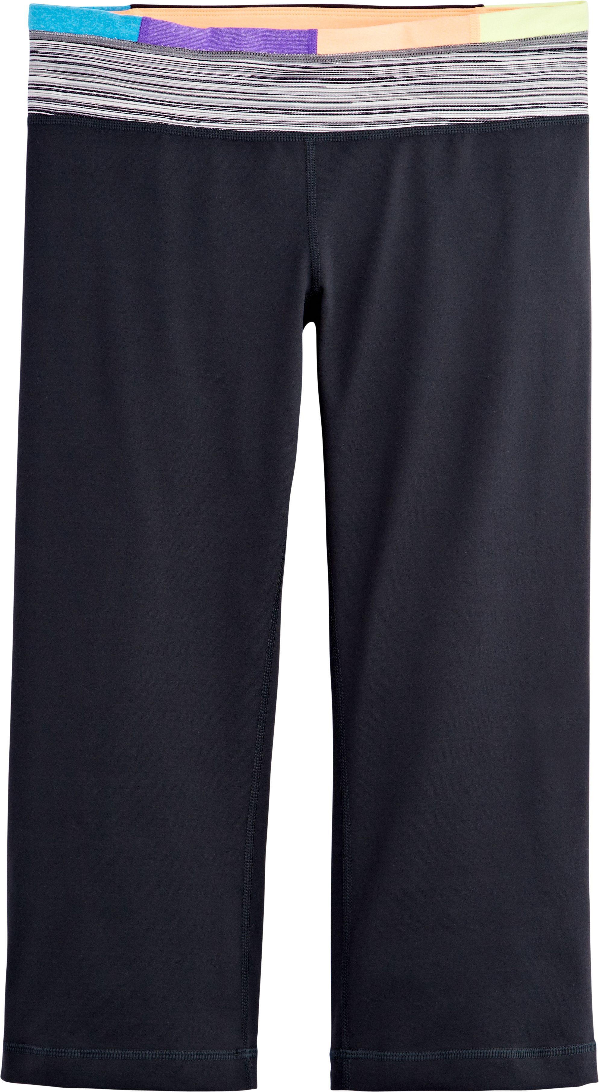 Women's UA StudioLux® Fitted Flare Capri, ANTHRACITE, Laydown