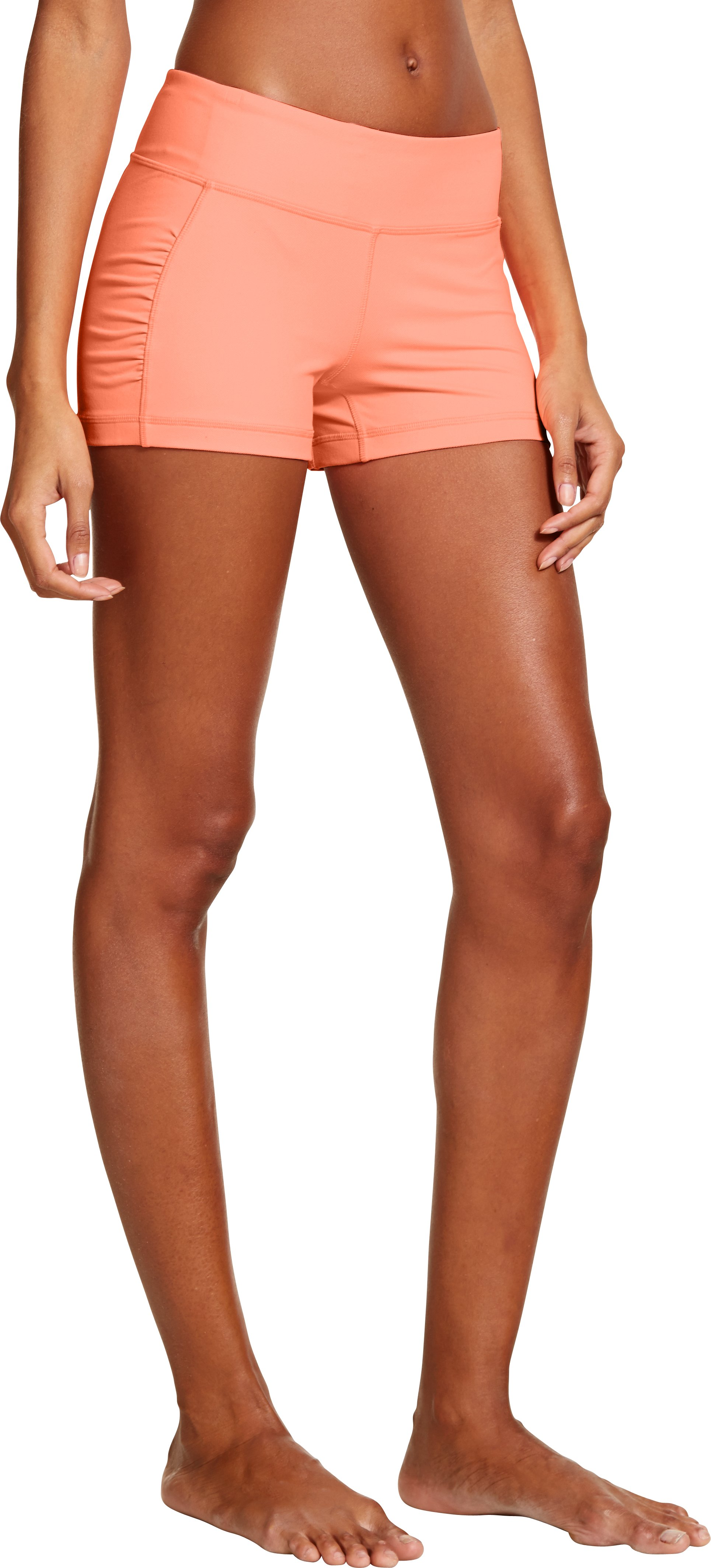 Women's UA StudioLux® Denim Shorty, Afterglow, zoomed image