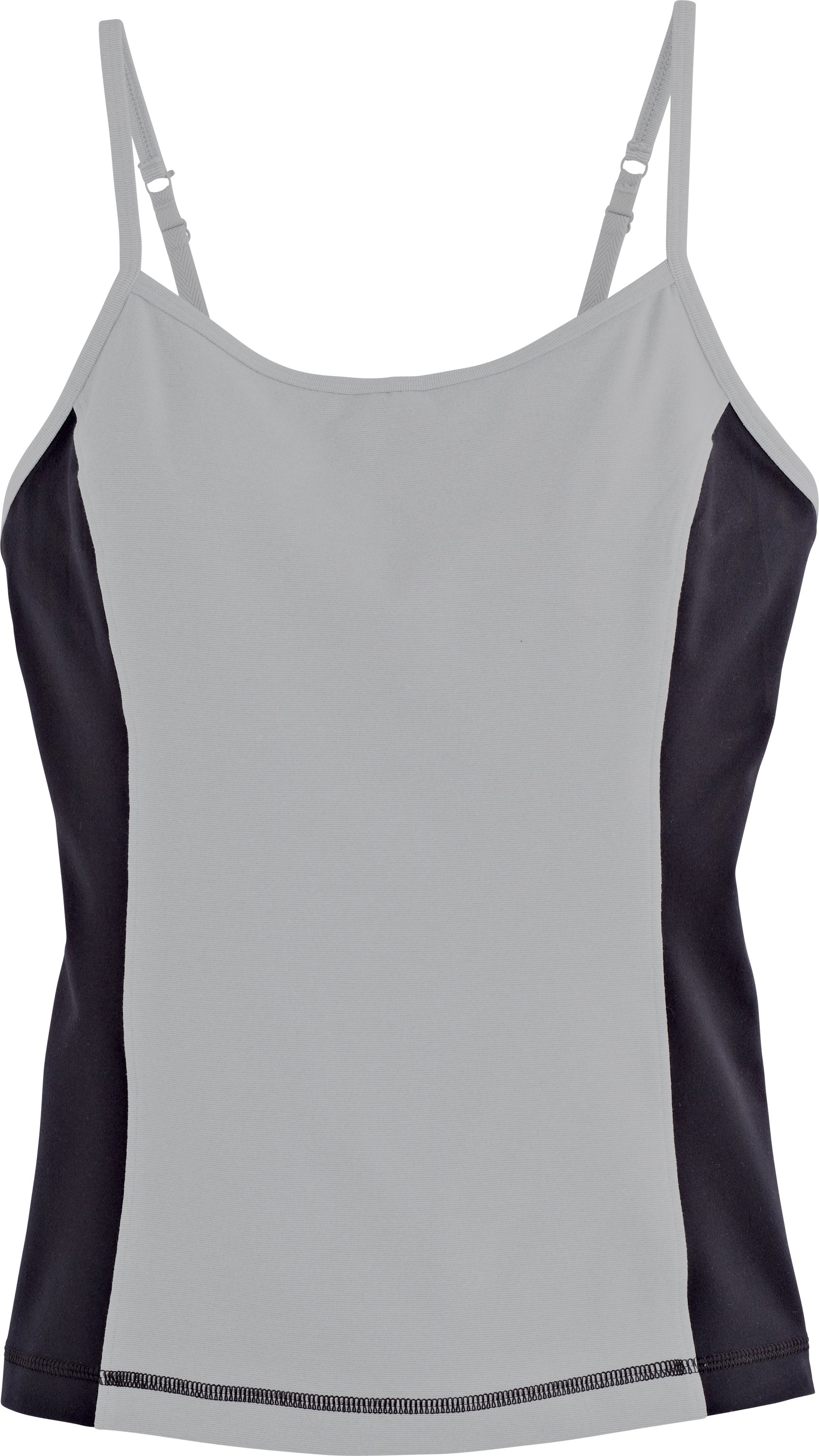 Women's UA Strappylux Adjustable Tank, Silver Heather, Laydown
