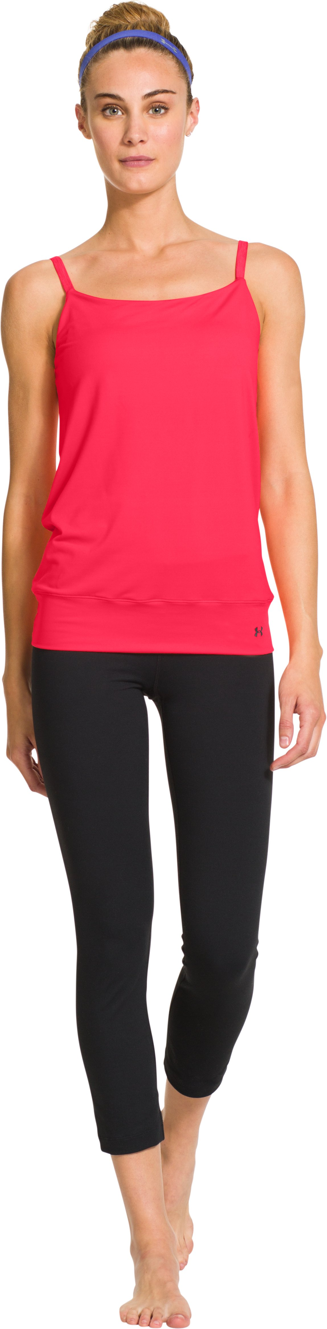 Women's UA Essential Banded Tank, Neo Pulse, Front