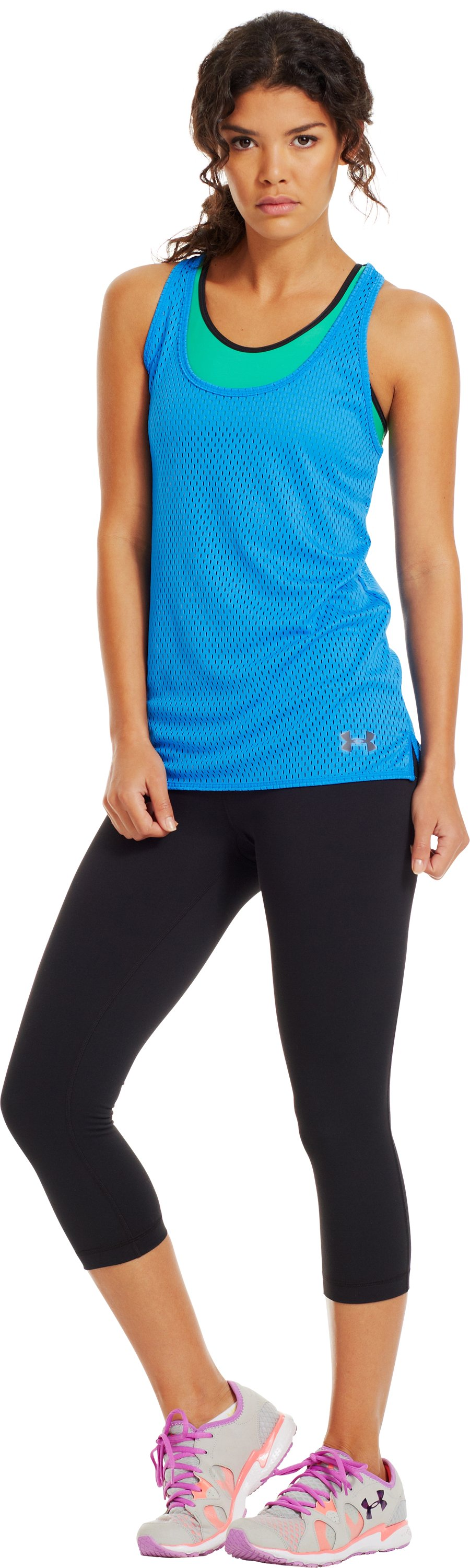 Women's UA Bolo Mesh Tank, ELECTRIC BLUE, zoomed image
