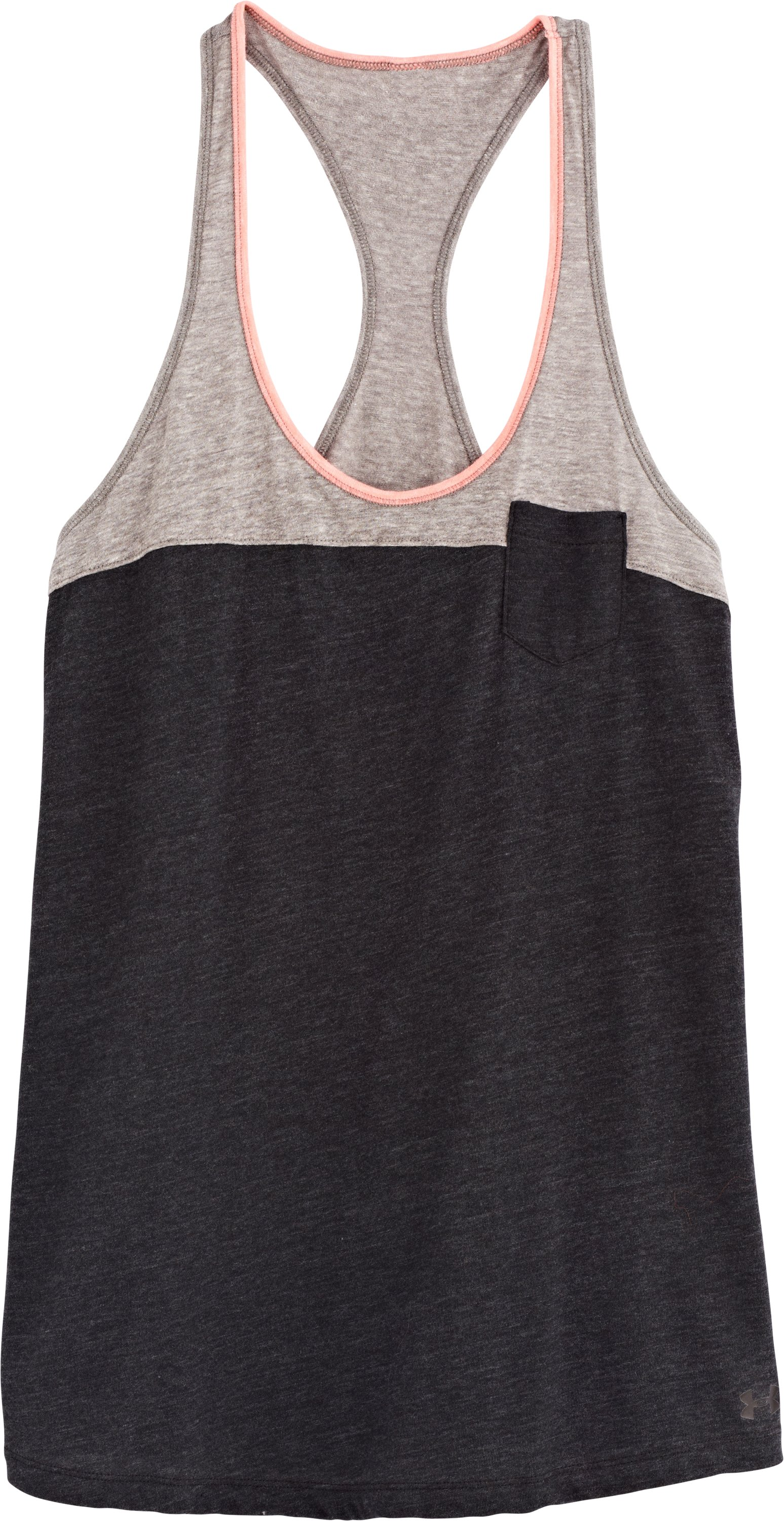 Women's Charged Cotton® Legacy Tank, Black , Laydown