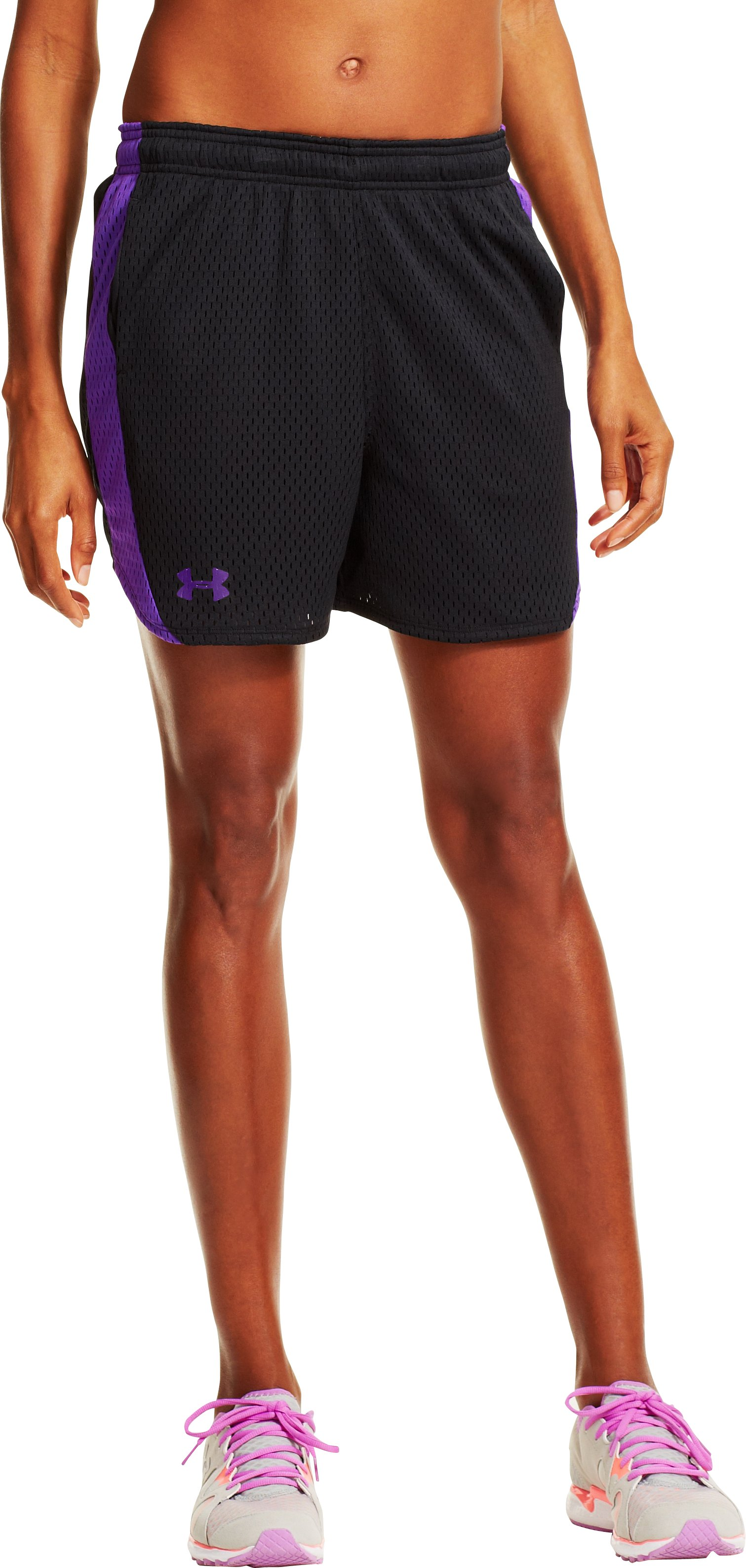Women's UA Trophy Shorts, Black , zoomed image