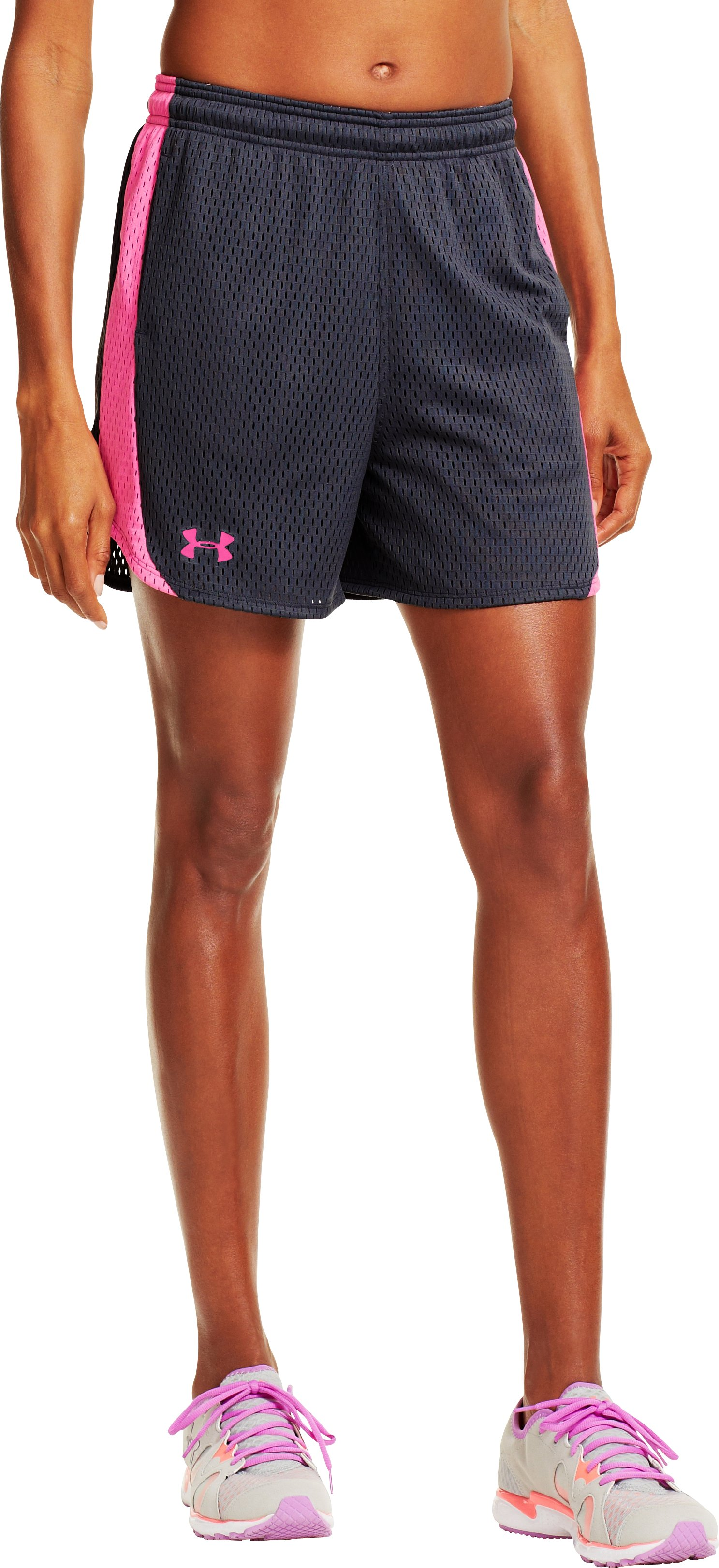 Women's UA Trophy Shorts, Lead, zoomed image