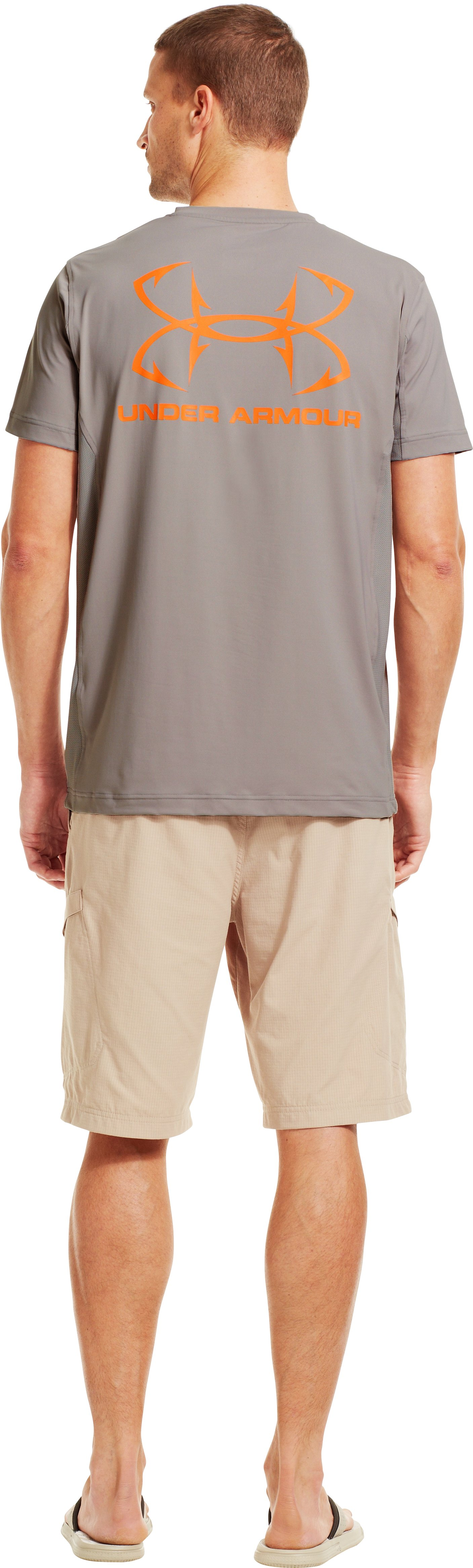 Men's UA Iso-Chill Short Sleeve Shirt, BOULDER, Back