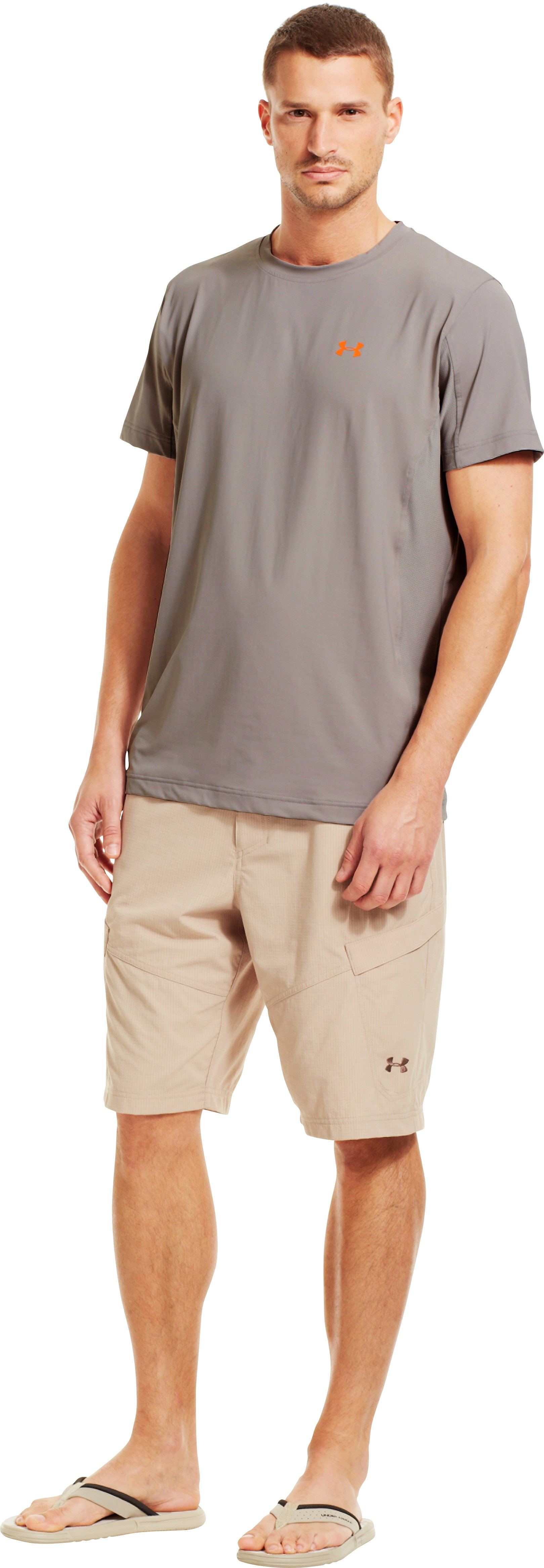 Men's UA Iso-Chill Short Sleeve Shirt, BOULDER, Front