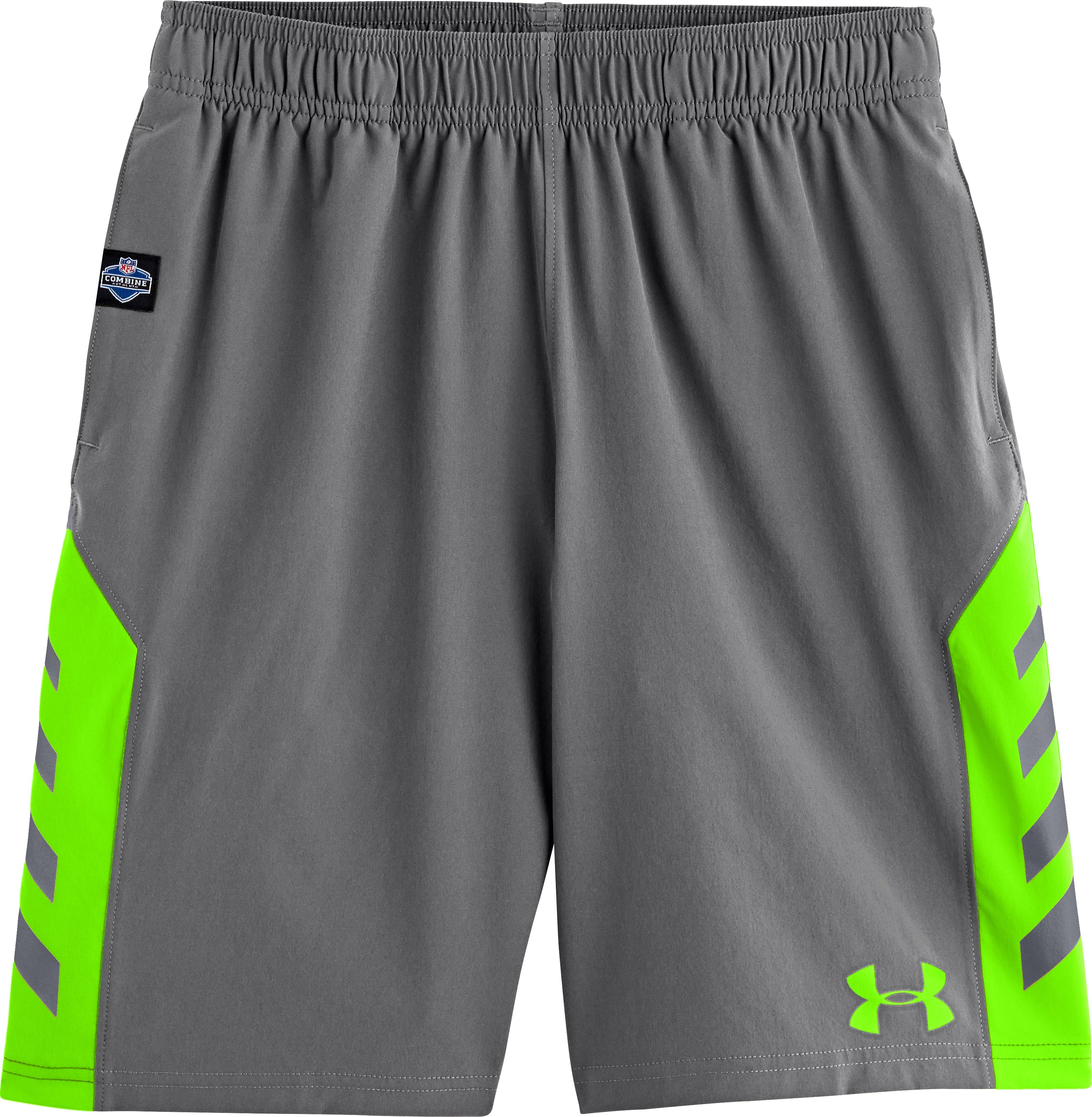 Boys' NFL Combine Authentic Shorts, Graphite, Laydown
